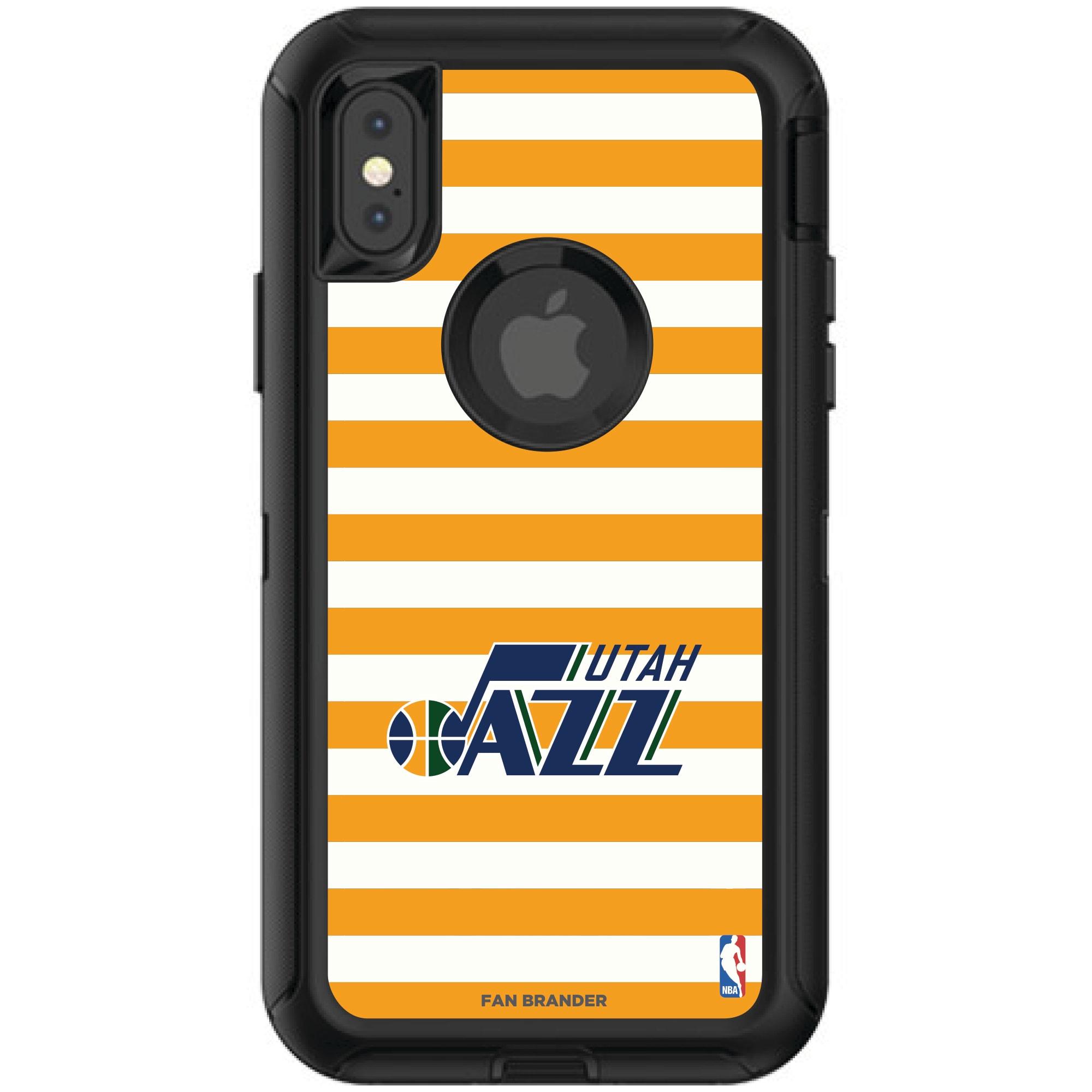 Utah Jazz OtterBox iPhone Defender Striped Design Case
