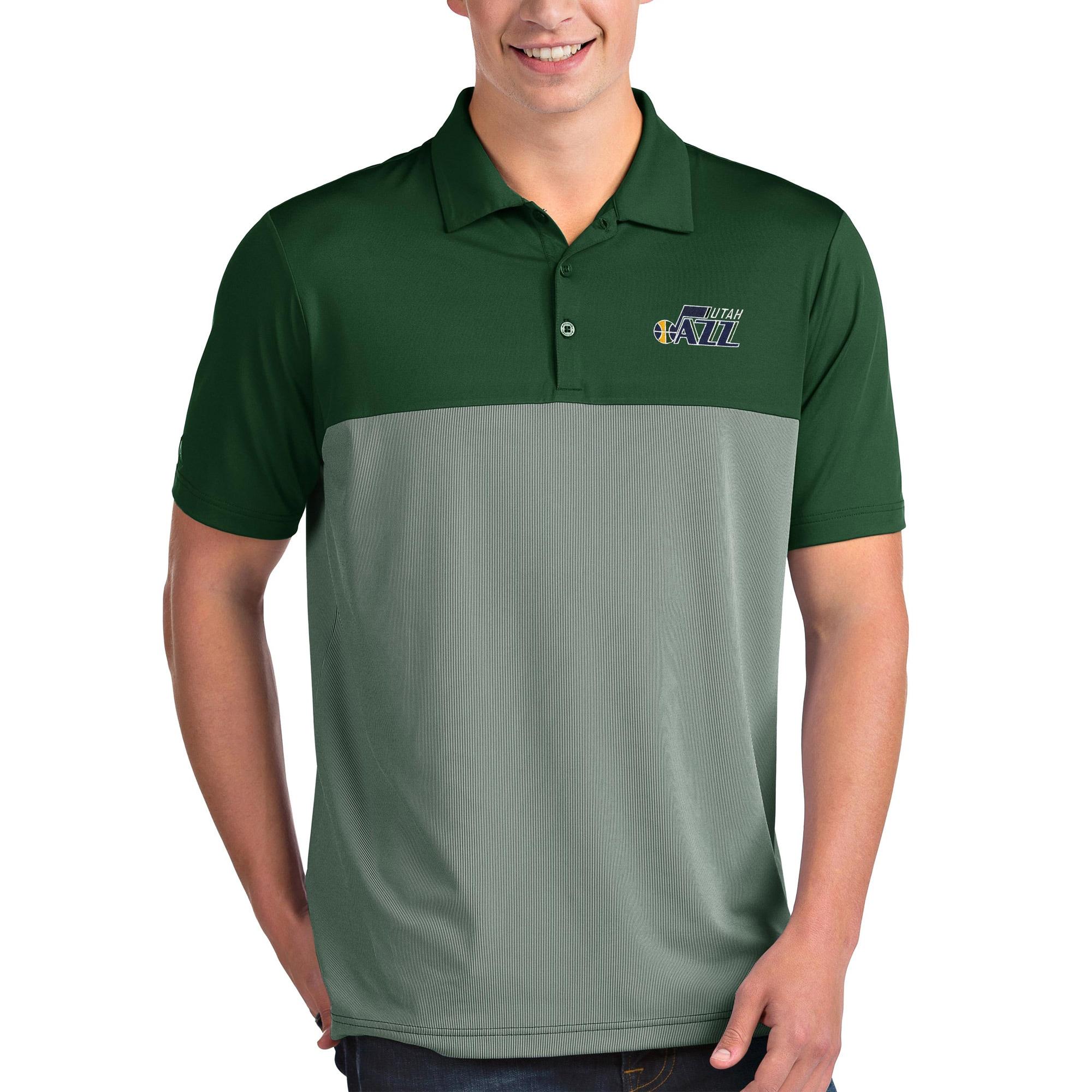 Utah Jazz Antigua Venture Polo - Green/White