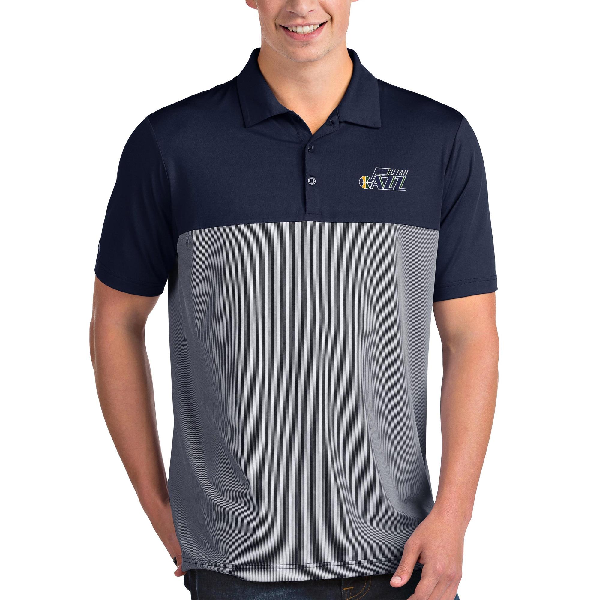 Utah Jazz Antigua Venture Polo - Navy/White