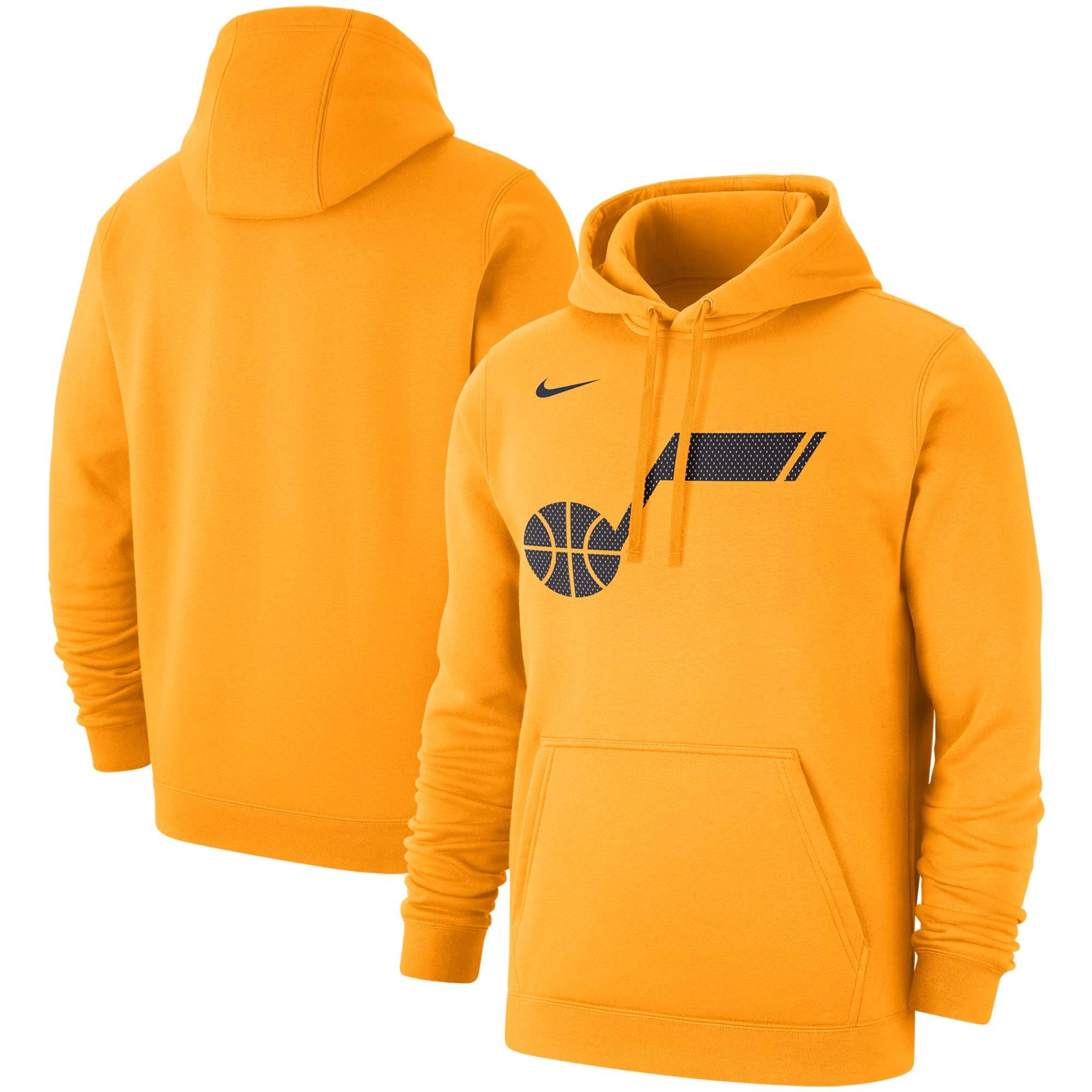 Utah Jazz Nike 2019/20 Statement Edition Club Pullover Hoodie - Gold