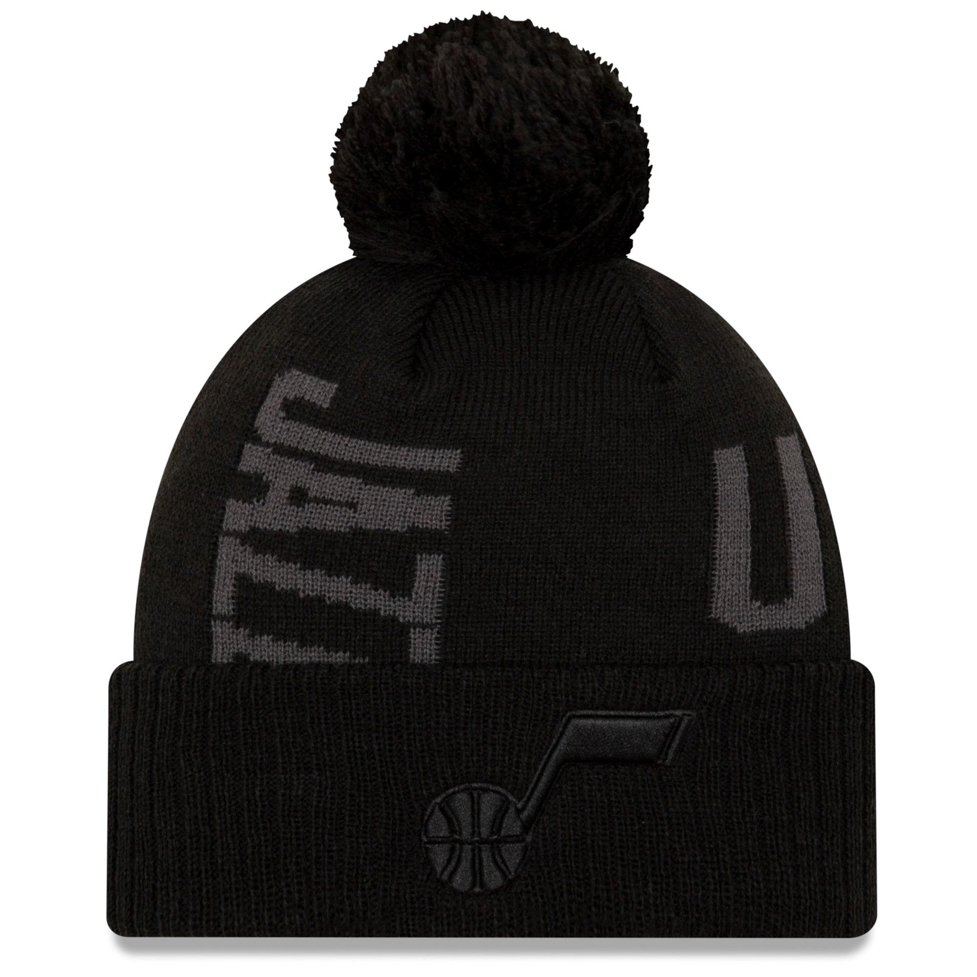 Utah Jazz New Era 2019 NBA Tip-Off Series Tonal Cuffed Knit Hat - Black