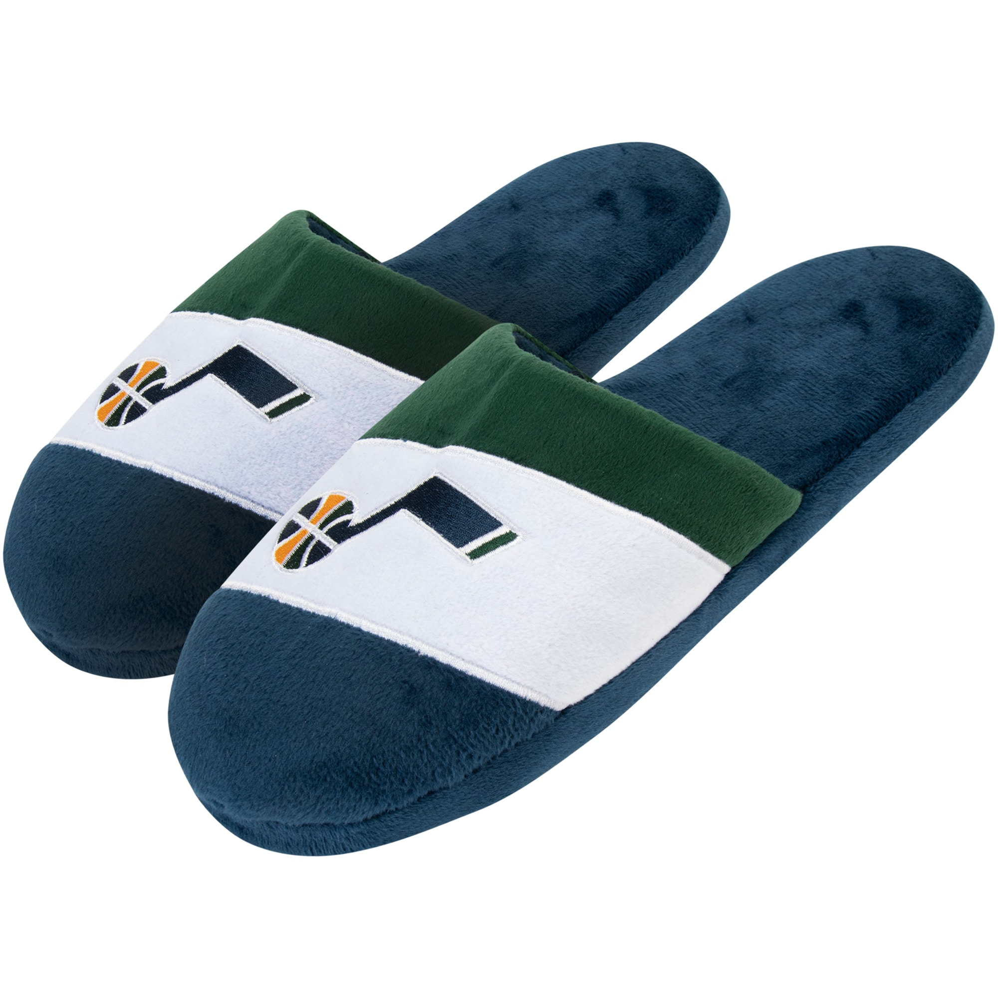 Utah Jazz Team Colorblock Slide Slippers