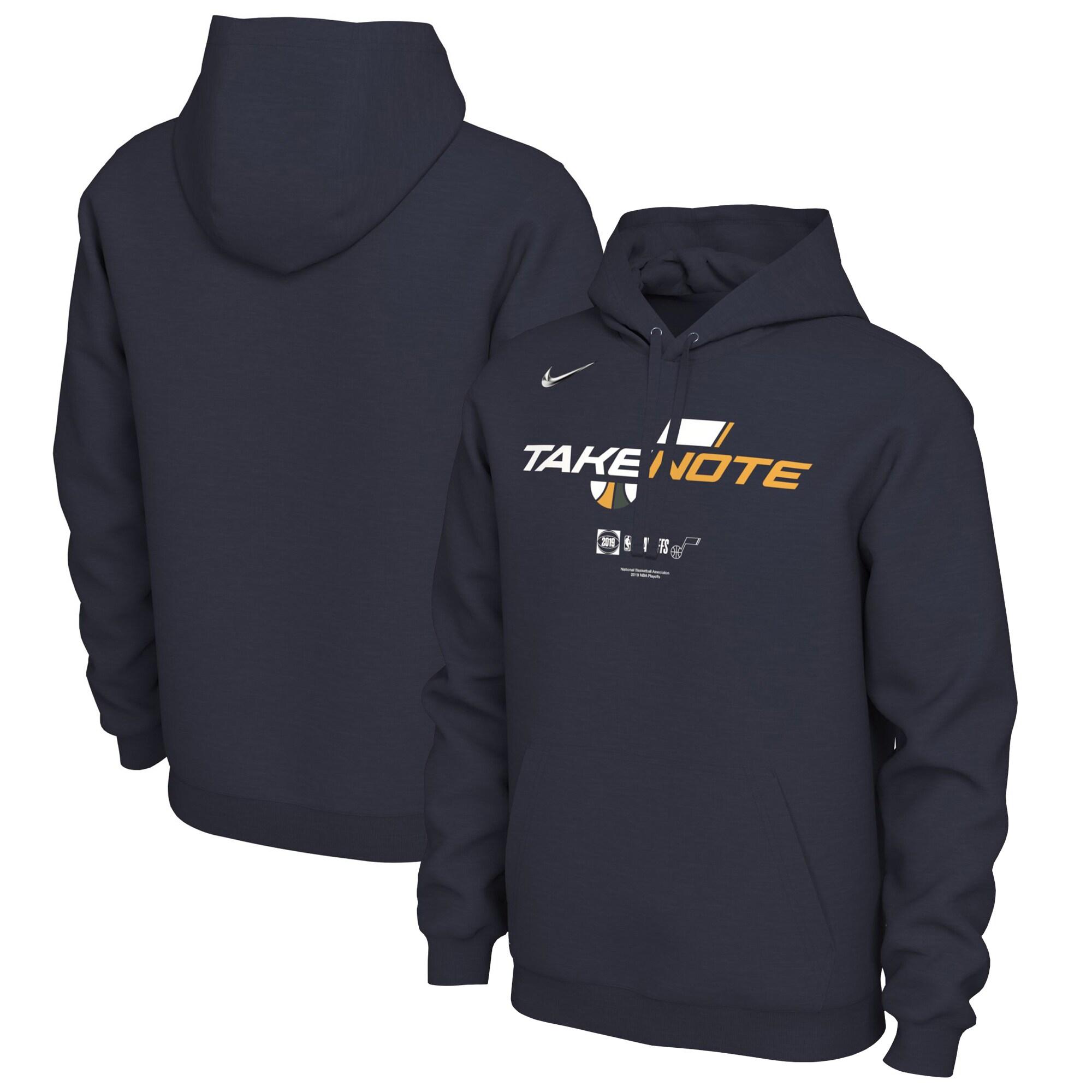 Utah Jazz Nike 2019 NBA Playoffs Bound Team Mantra Pullover Hoodie - Navy