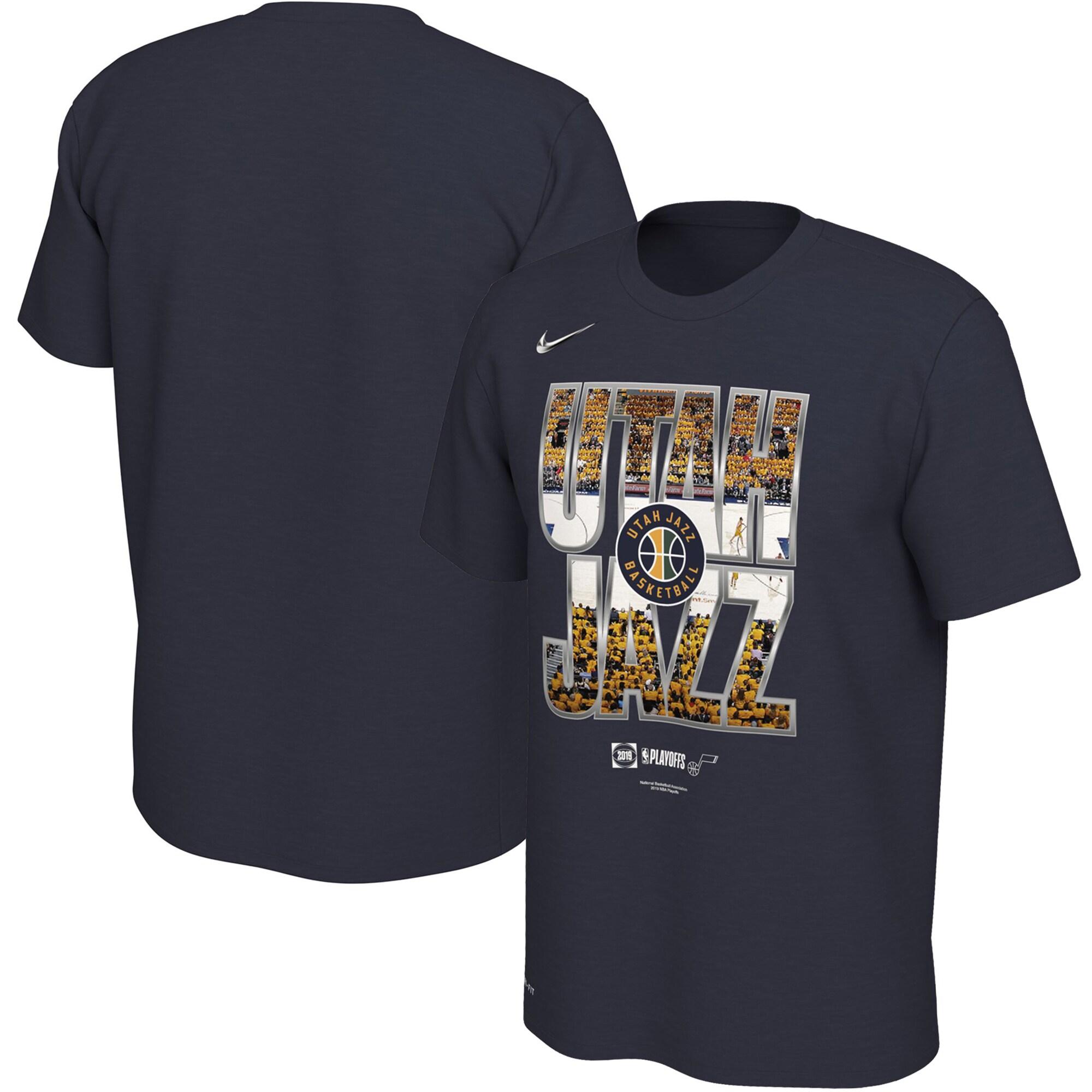 Utah Jazz Nike 2019 NBA Playoffs Bound City DNA Dri-FIT T-Shirt - Navy