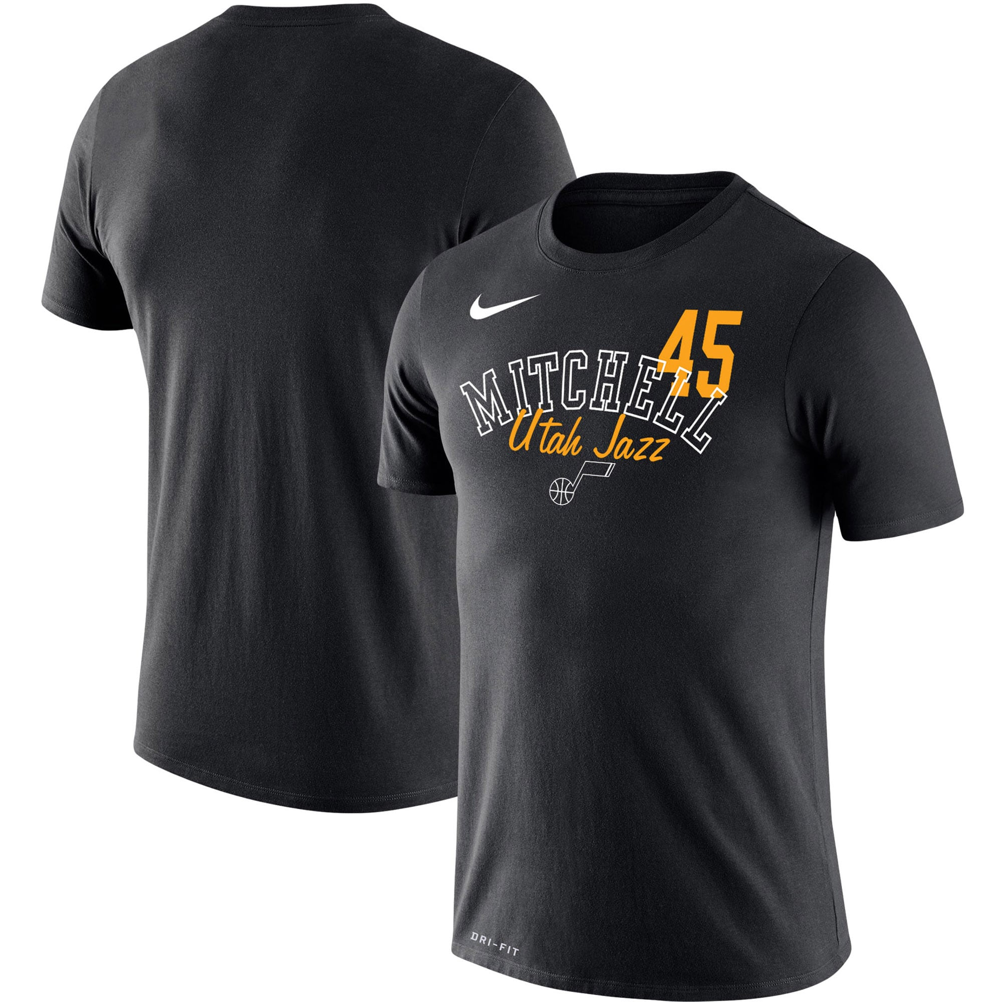 Donovan Mitchell Utah Jazz Nike Player Performance T-Shirt - Black