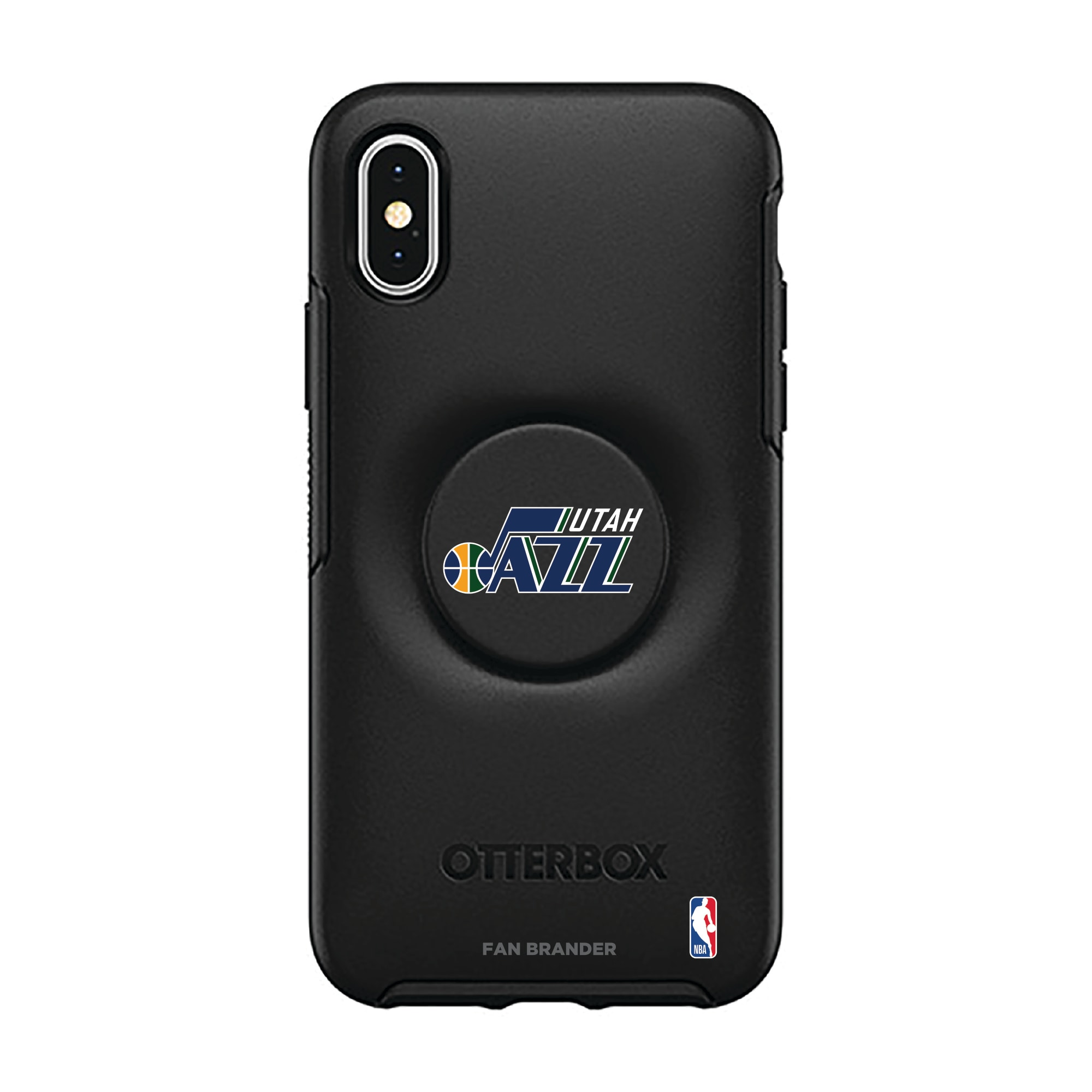 Utah Jazz OtterBox Otter + Pop Symmetry Series iPhone Case with Integrated PopSockets PopGrip