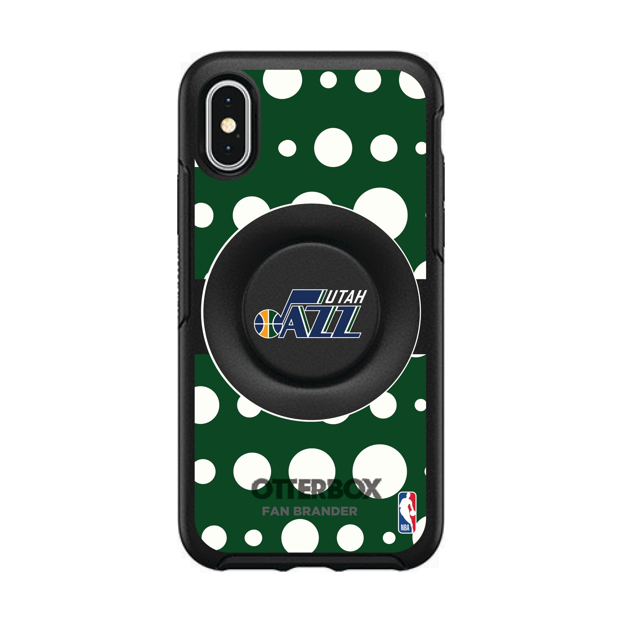 Utah Jazz OtterBox Otter + Pop Polka Dot iPhone Case with Integrated PopSockets PopGrip