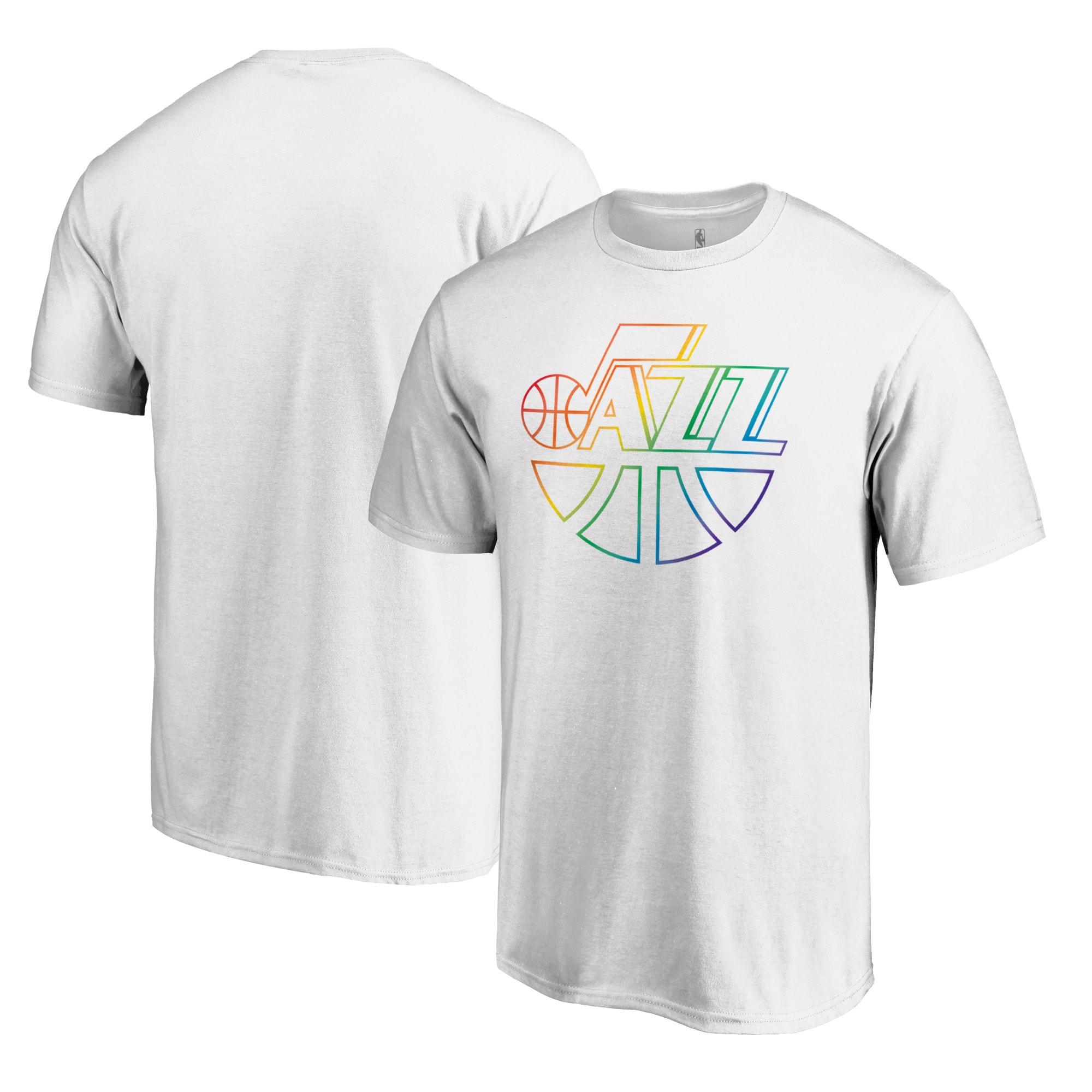 Utah Jazz Fanatics Branded Team Pride Wordmark T-Shirt - White