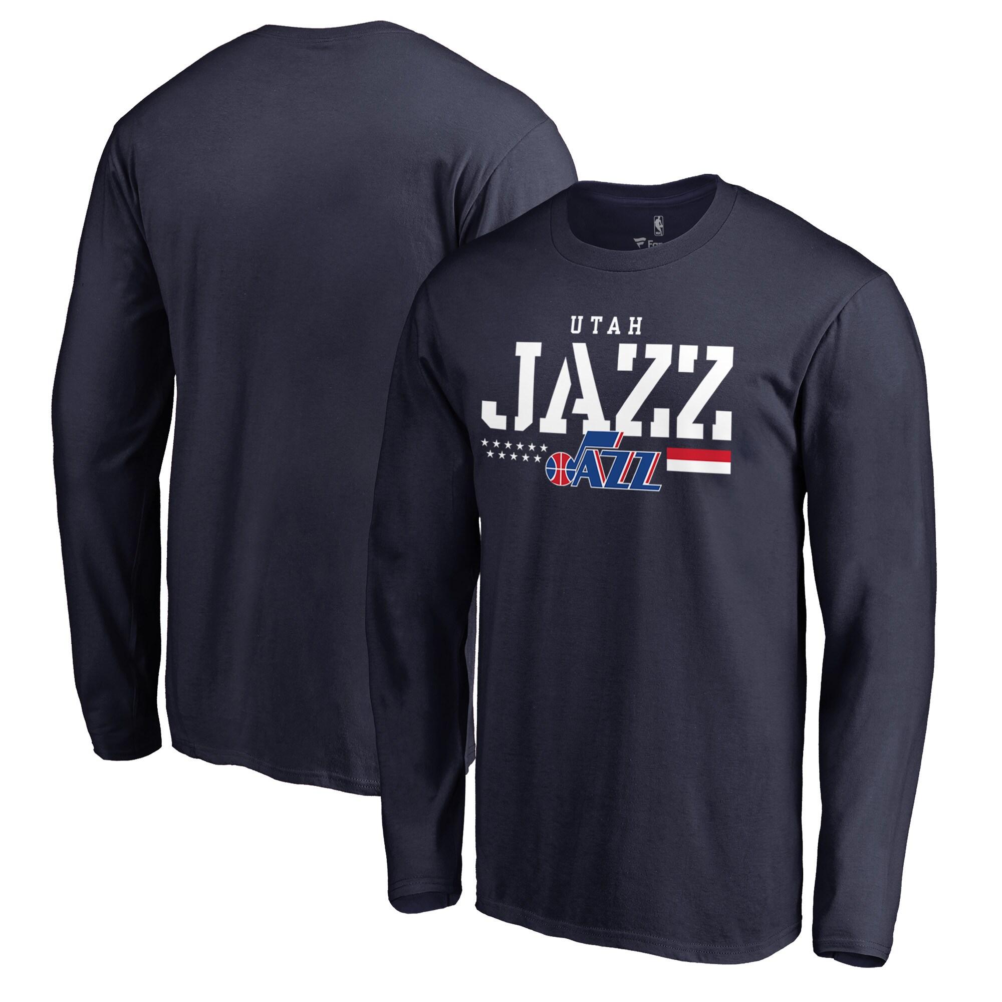 Utah Jazz Fanatics Branded Hoops For Troops Long Sleeve T-Shirt - Navy