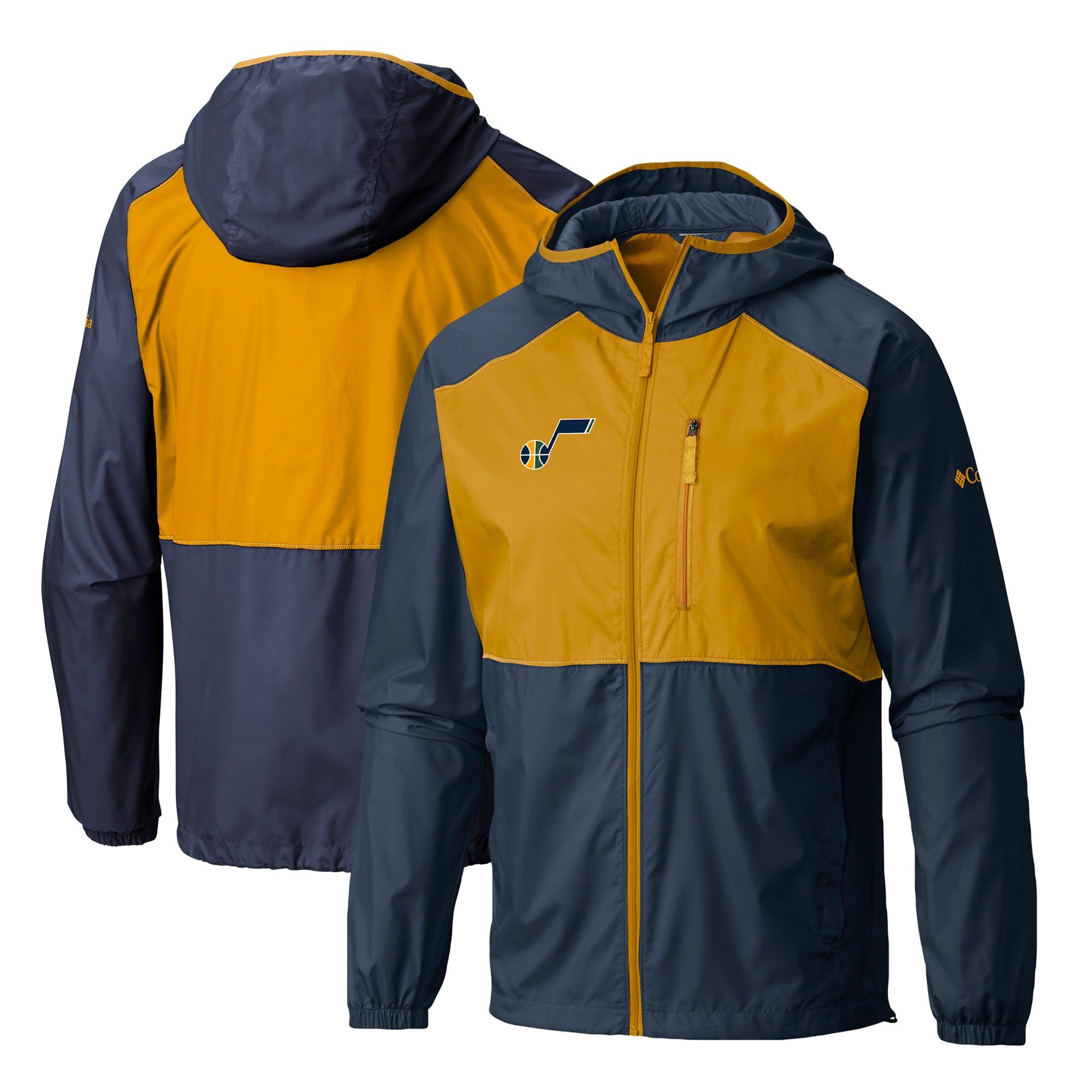 Utah Jazz Columbia Flash Forward Full-Zip Windbreaker Jacket - Navy