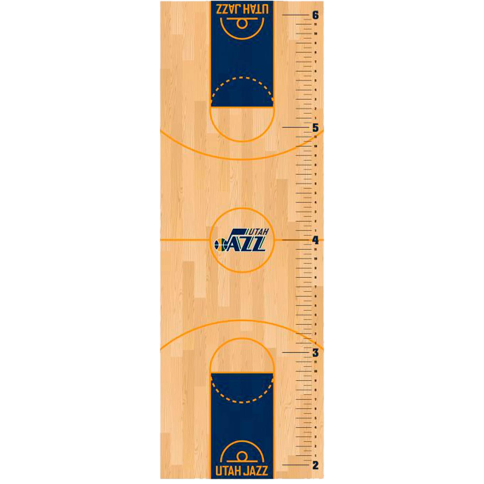 Utah Jazz Fathead Basketball Court Large Removable Growth Chart