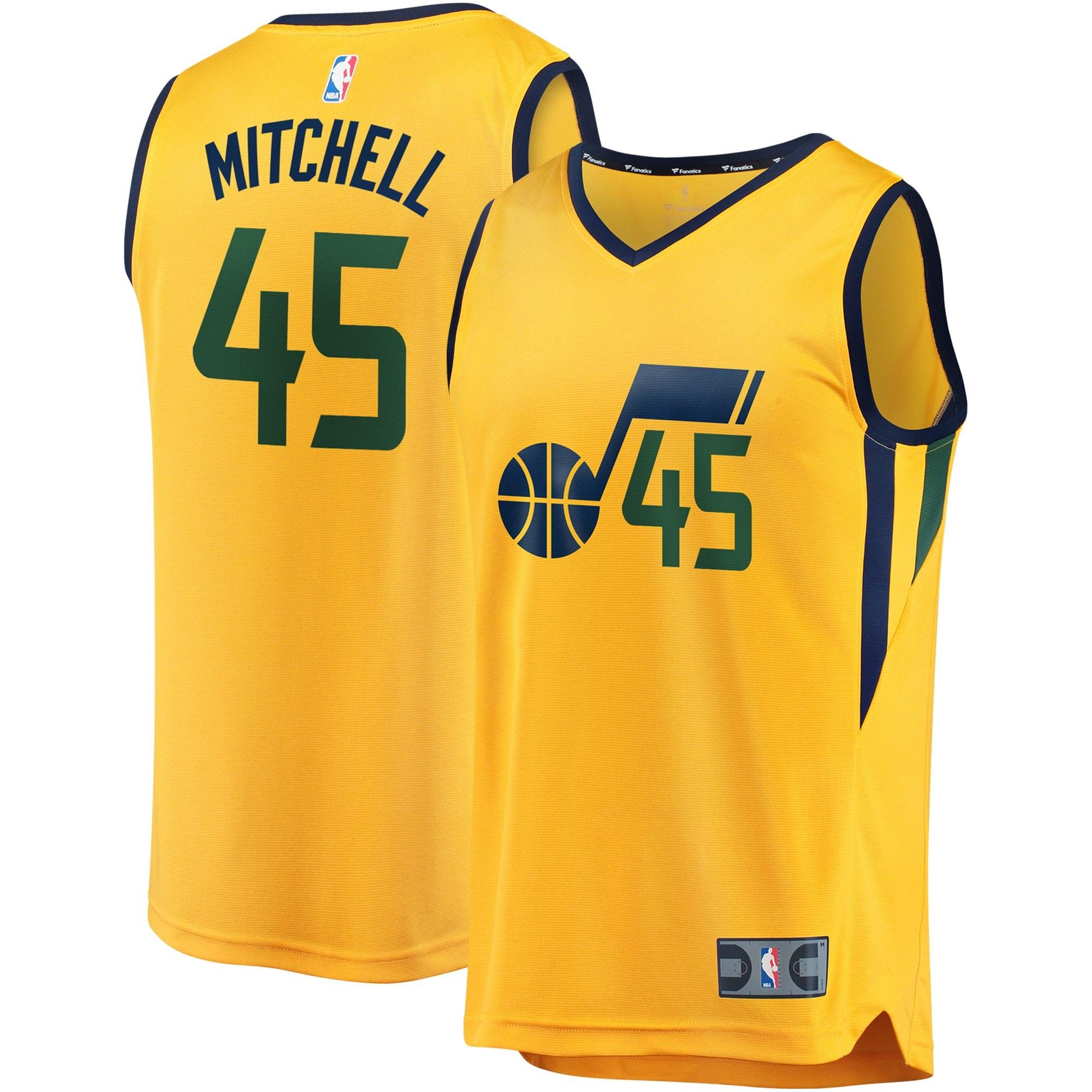 Donovan Mitchell Utah Jazz Fanatics Branded Youth Fast Break Jersey - Statement Edition - Gold
