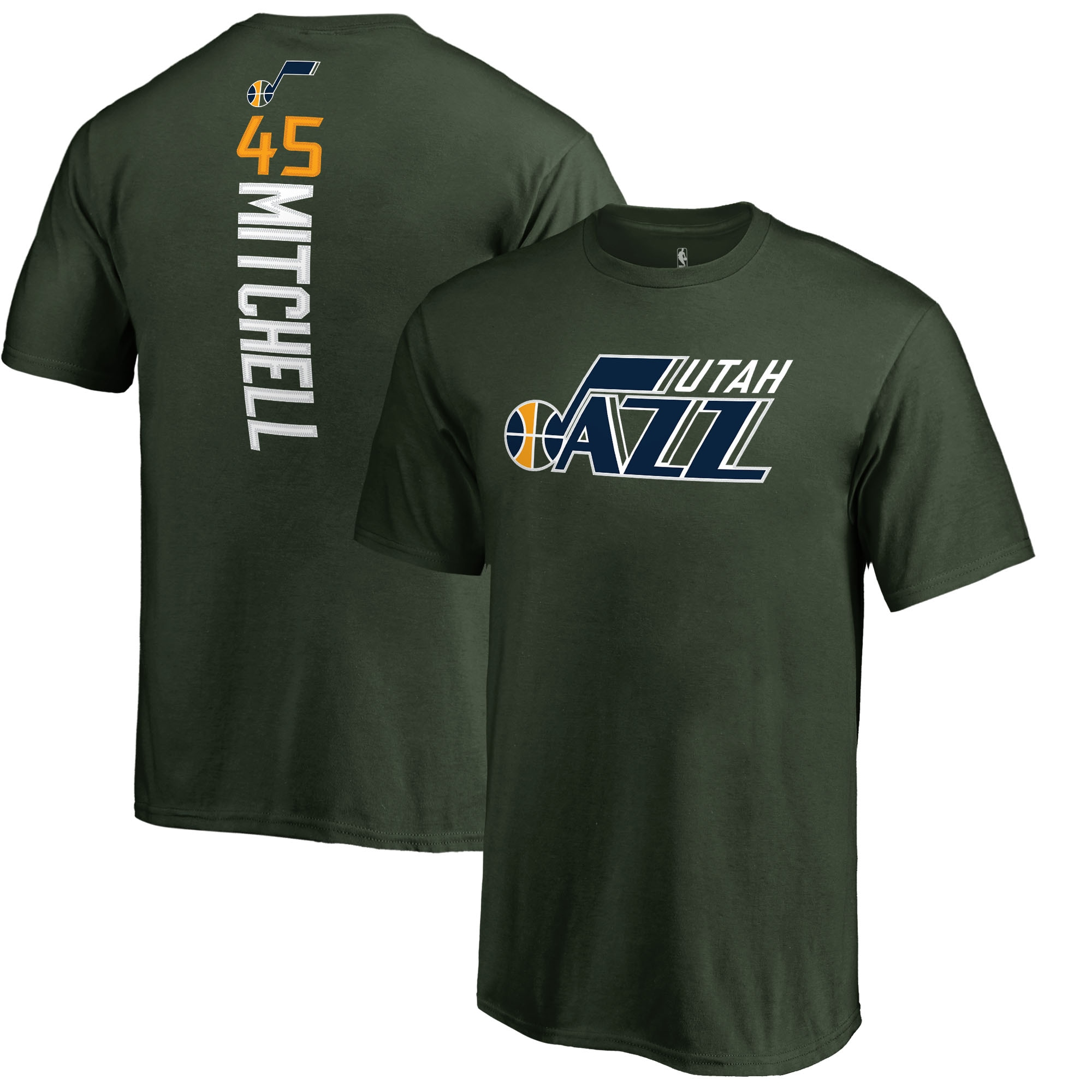 Donovan Mitchell Utah Jazz Fanatics Branded Youth Team Backer Name & Number T-Shirt - Green