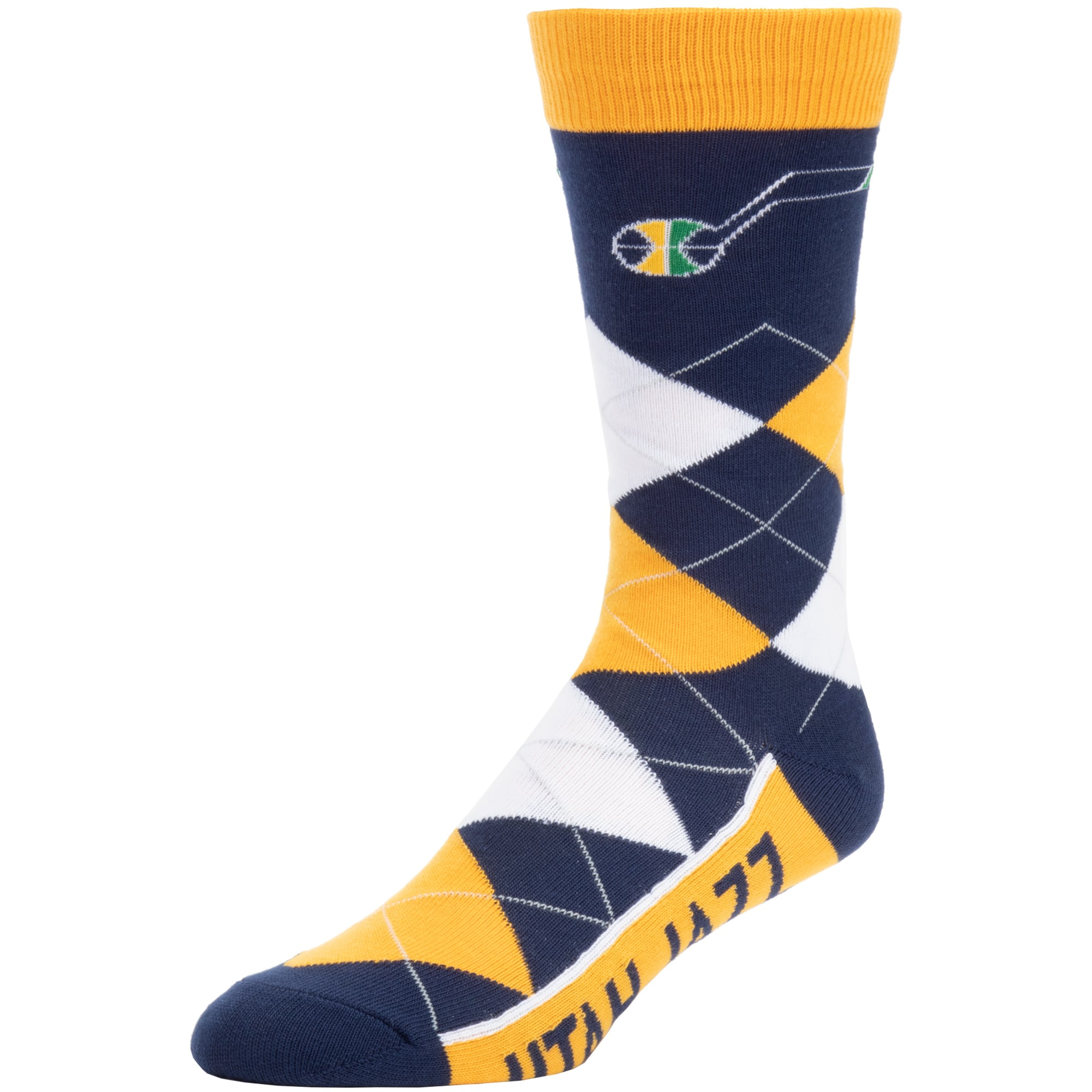 Utah Jazz For Bare Feet Team Argyle Crew Socks