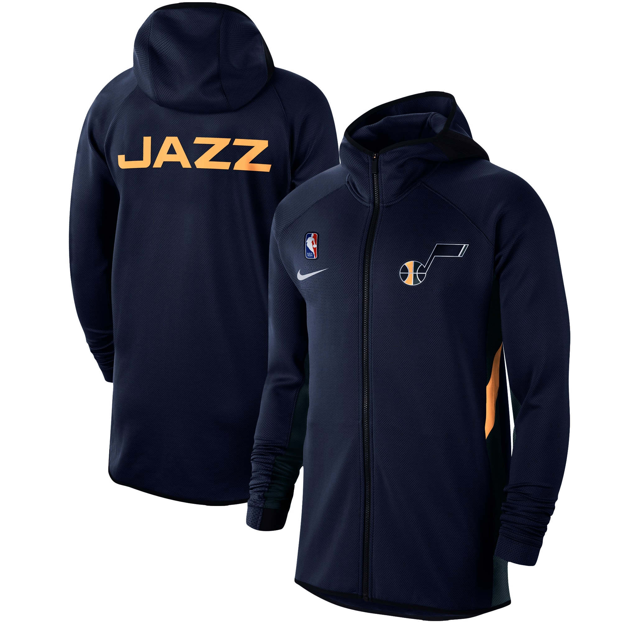 Utah Jazz Nike Authentic Showtime Therma Flex Performance Full-Zip Hoodie - Navy