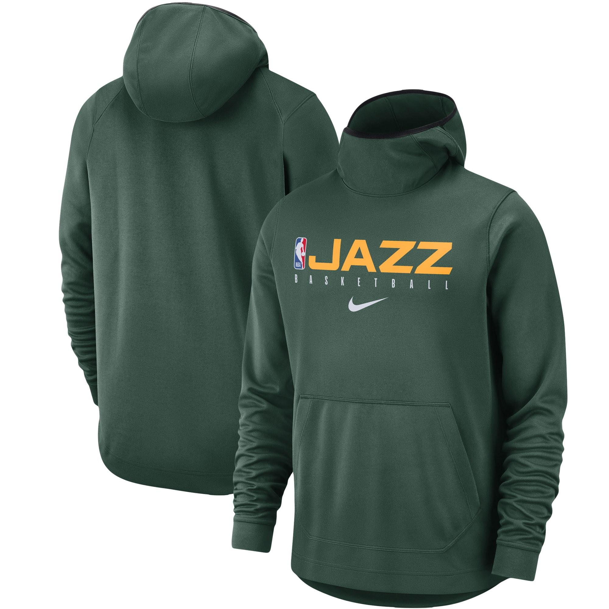 Utah Jazz Nike Spotlight Practice Performance Pullover Hoodie - Green