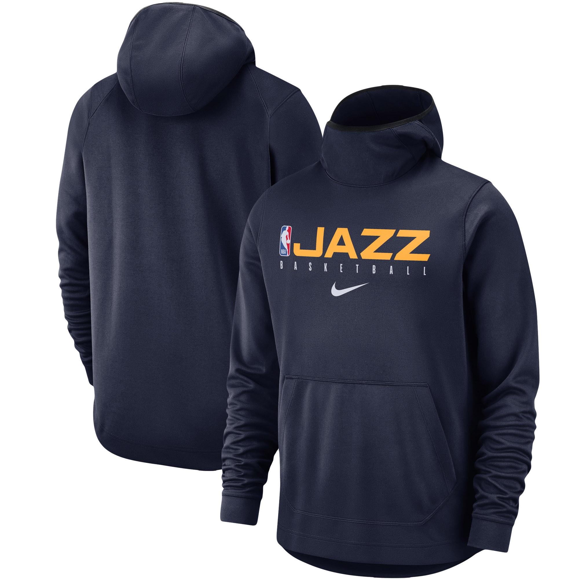 Utah Jazz Nike Spotlight Practice Performance Pullover Hoodie - Navy