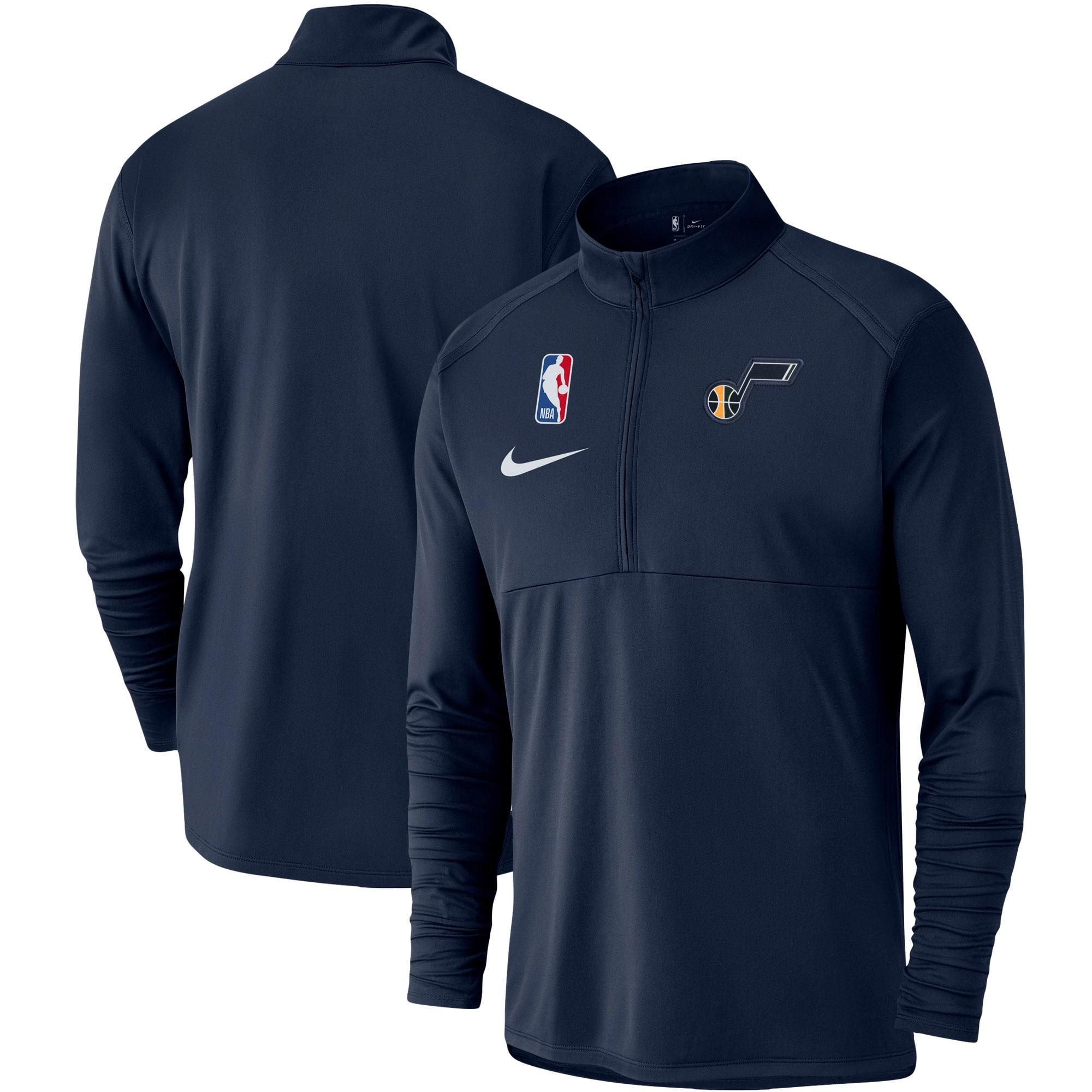 Utah Jazz Nike Element Logo Performance Half-Zip Pullover Jacket - Navy