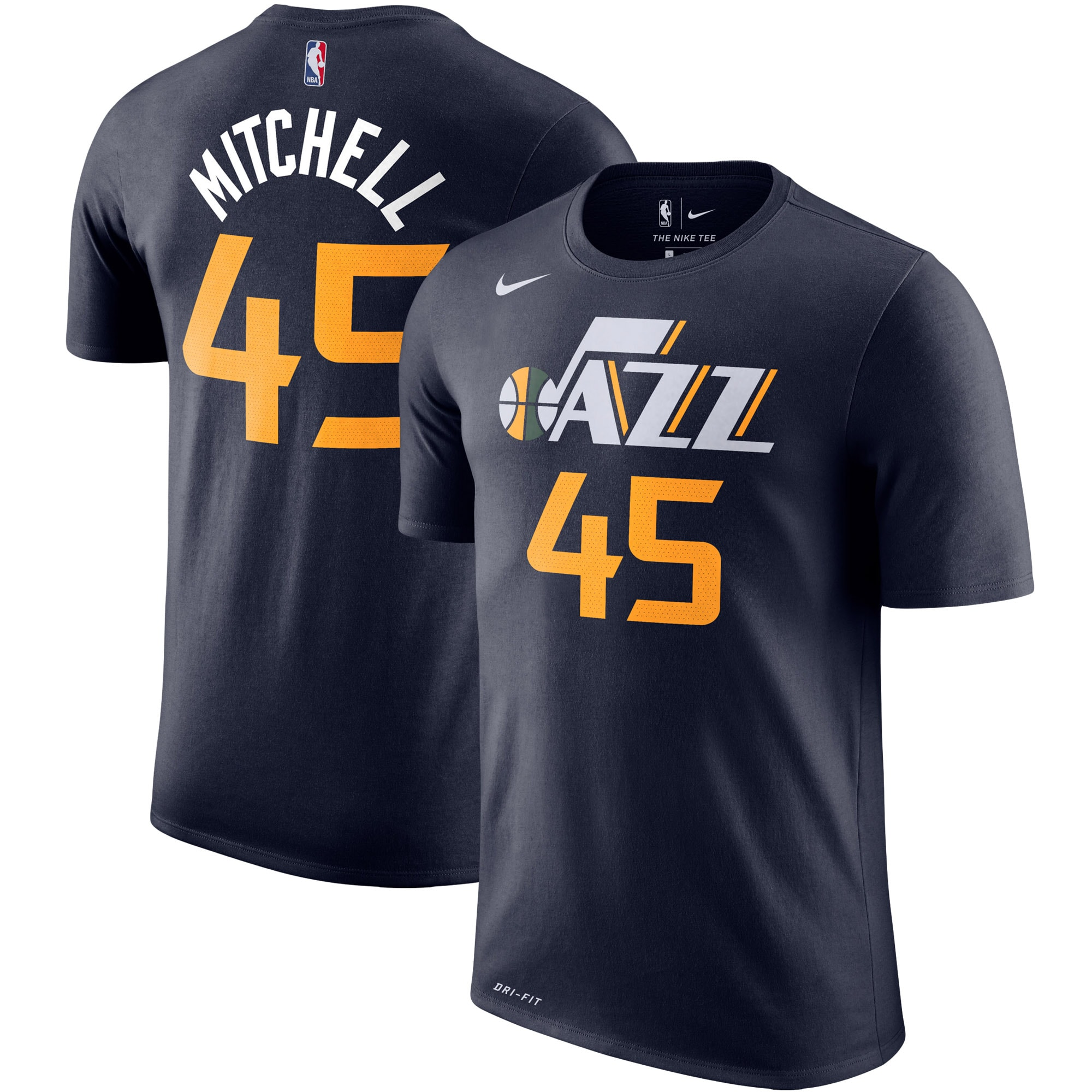 Donovan Mitchell Utah Jazz Nike Player Name & Number Performance T-Shirt - Navy