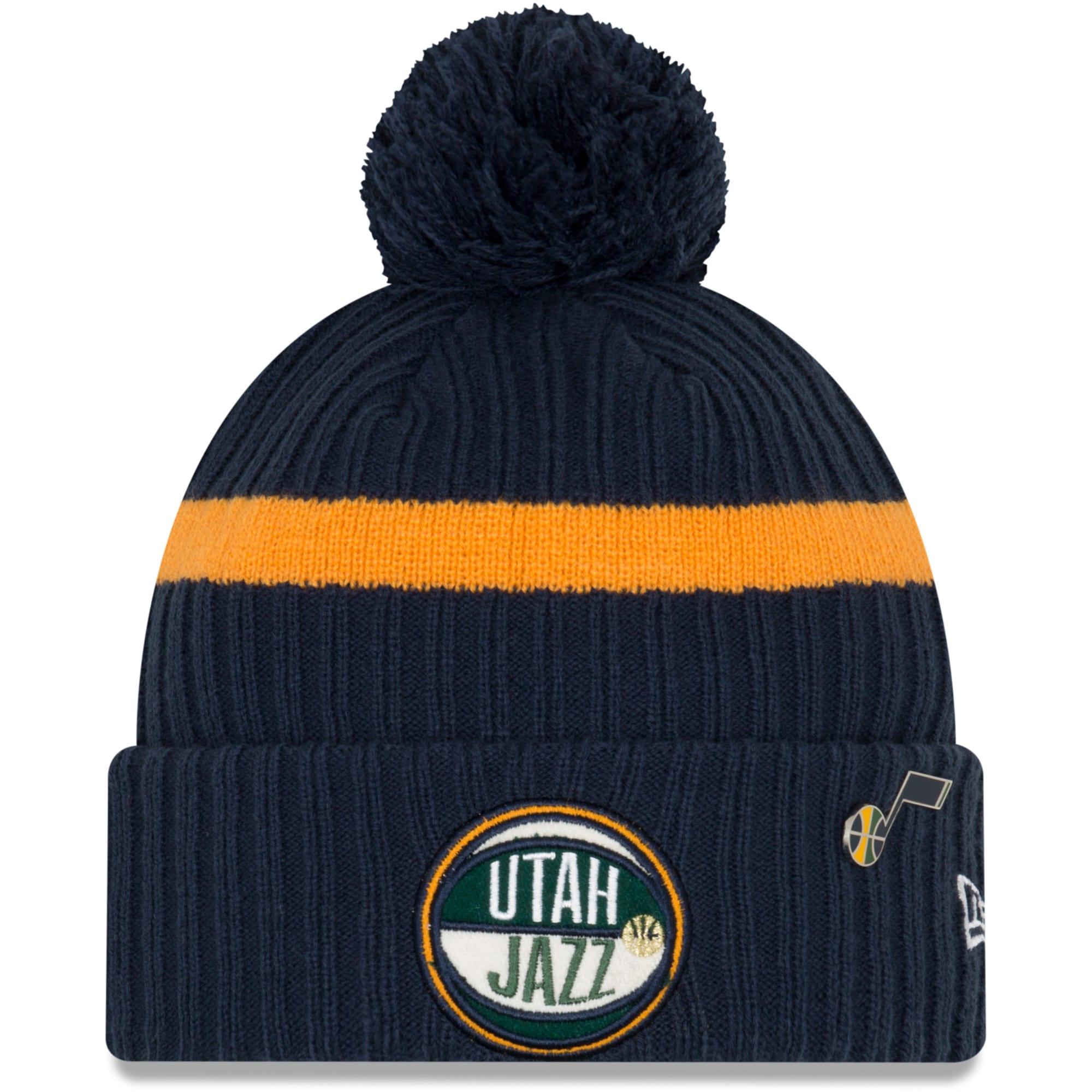 Utah Jazz New Era Youth 2019 NBA Draft Cuffed Knit Hat - Navy