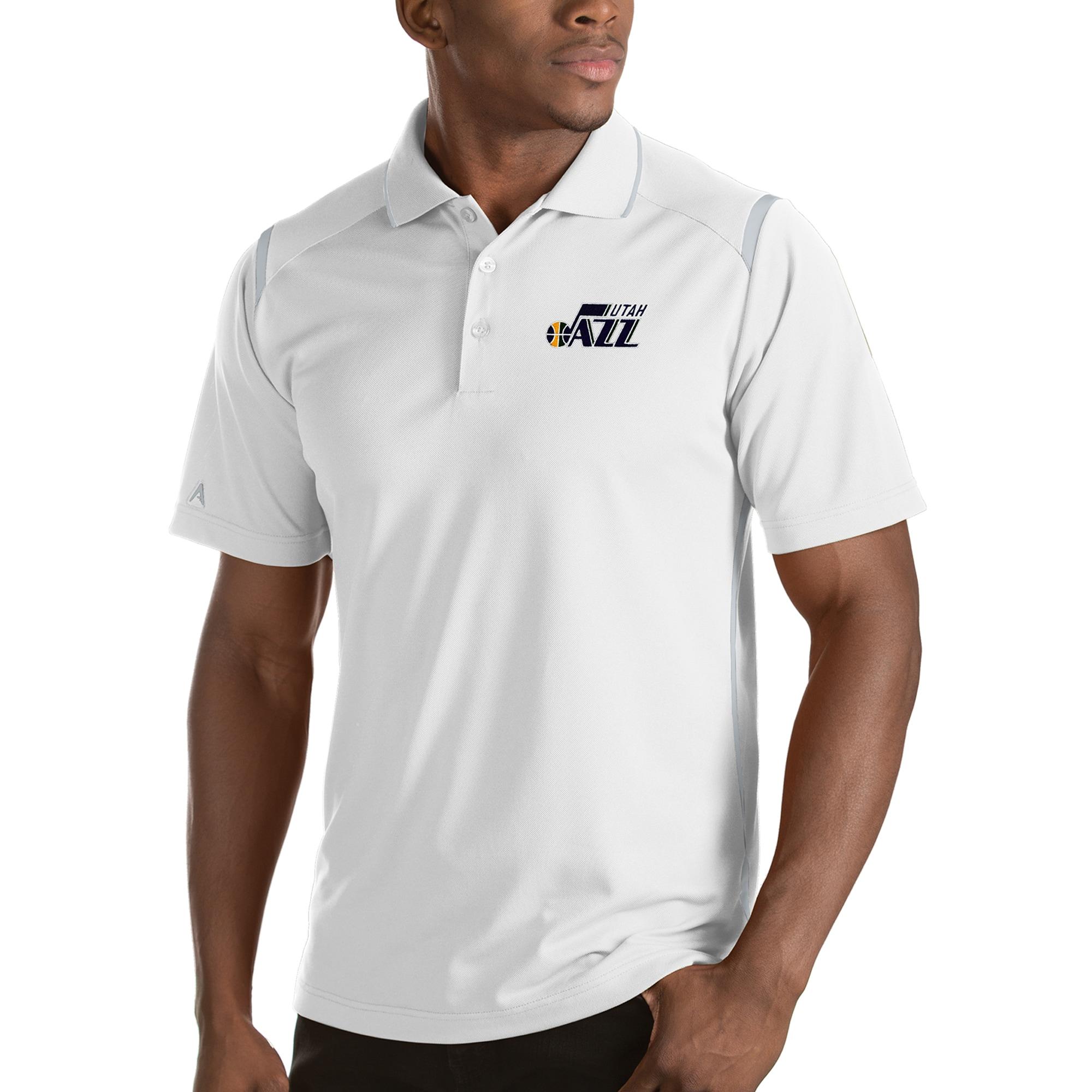 Utah Jazz Antigua Merit Polo - White