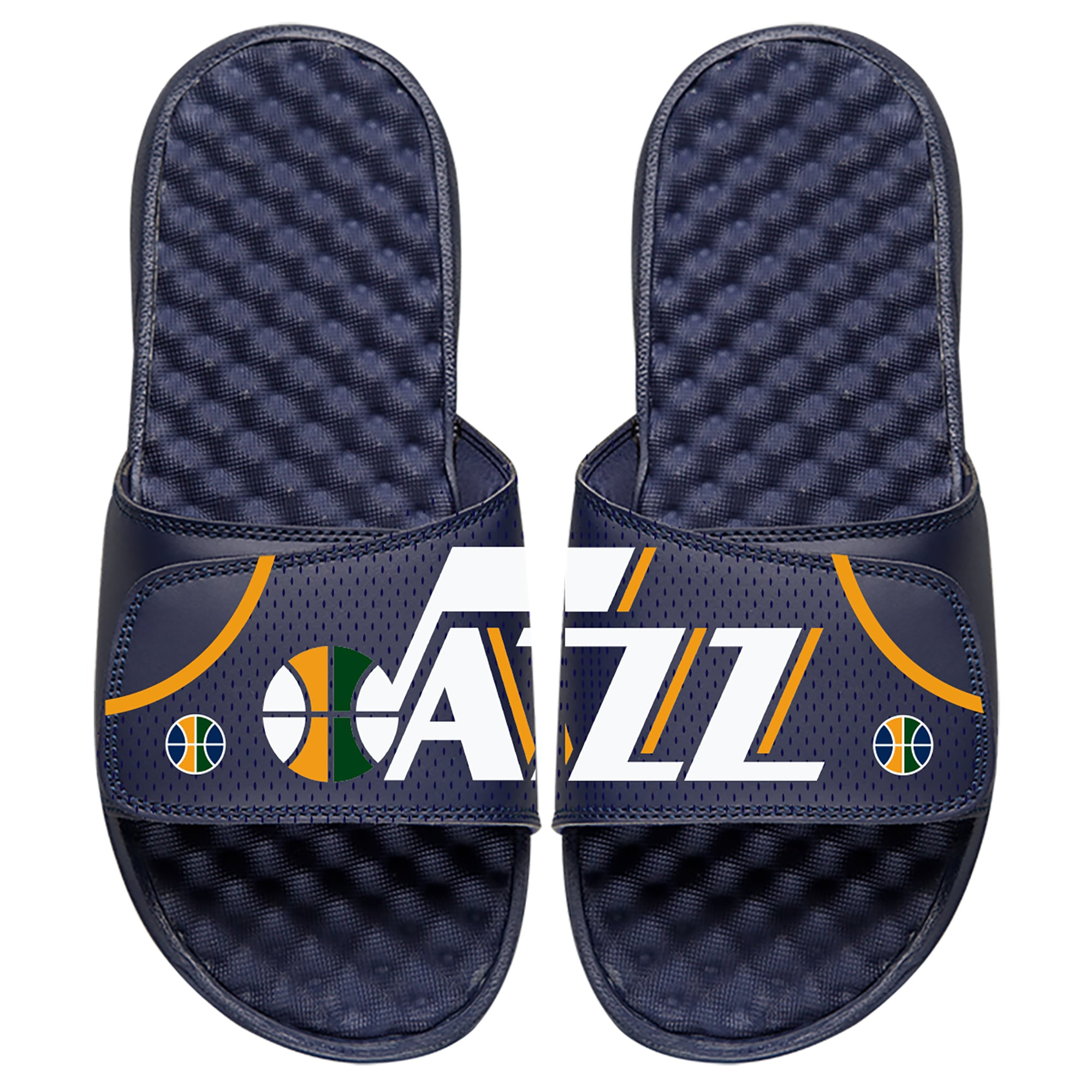 Utah Jazz ISlide Away Jersey Split Slide Sandals - Navy