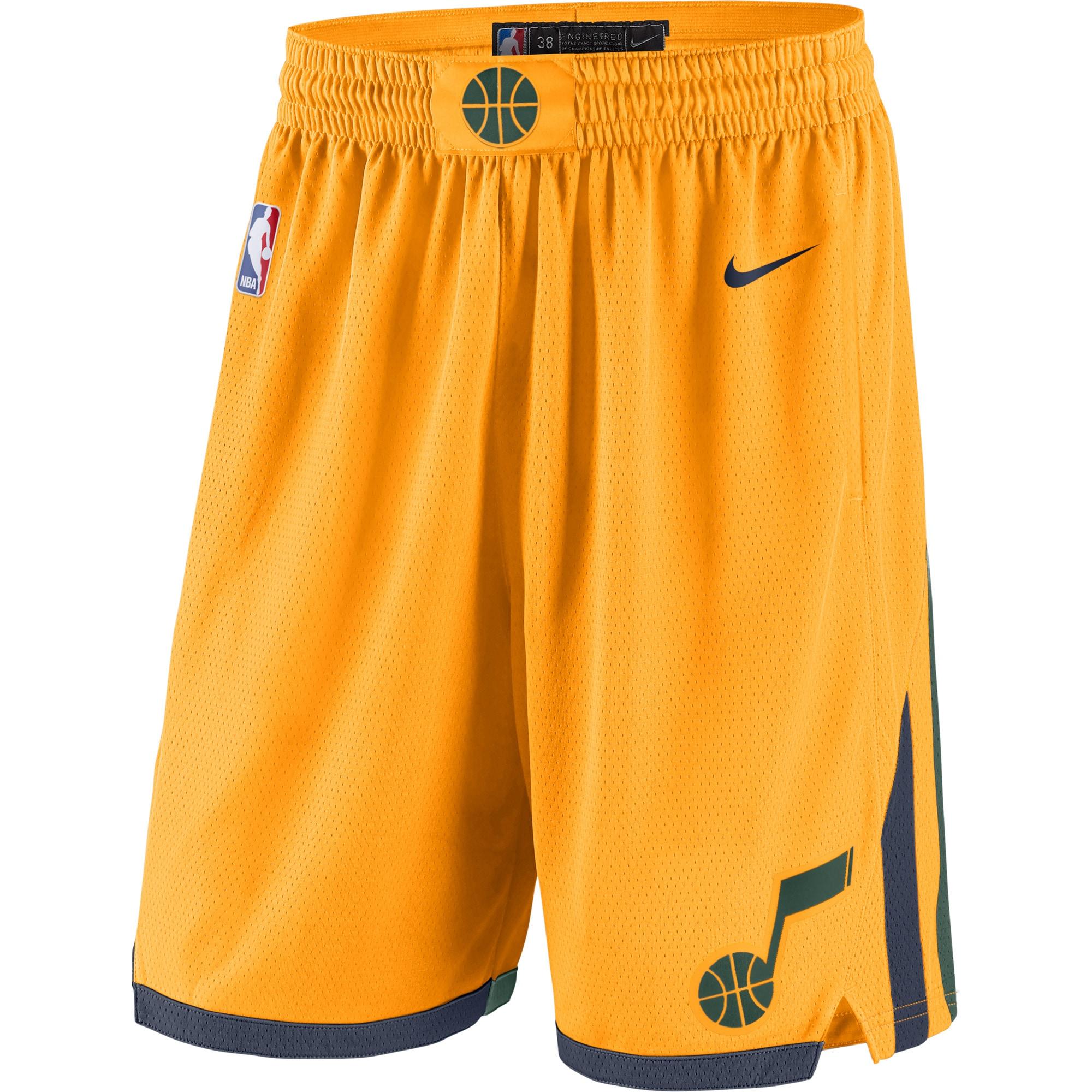 Utah Jazz Nike 2019/20 Statement Edition Swingman Shorts - Gold