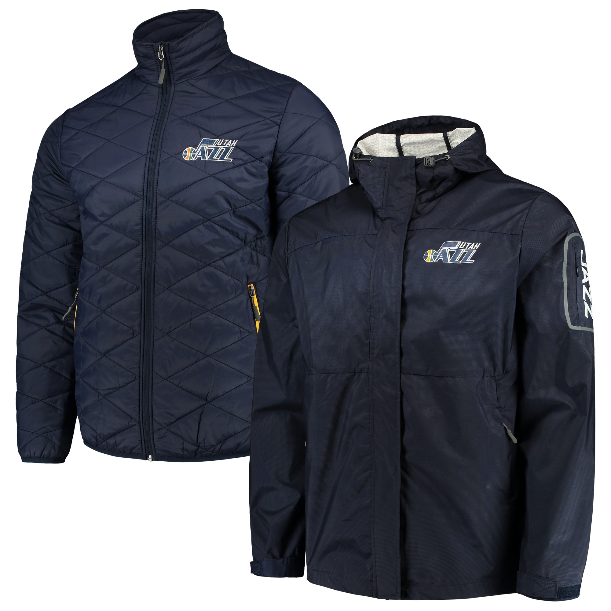 Utah Jazz G-III Sports by Carl Banks Acclimation 3-in-1 Systems Full-Zip Jacket - Navy