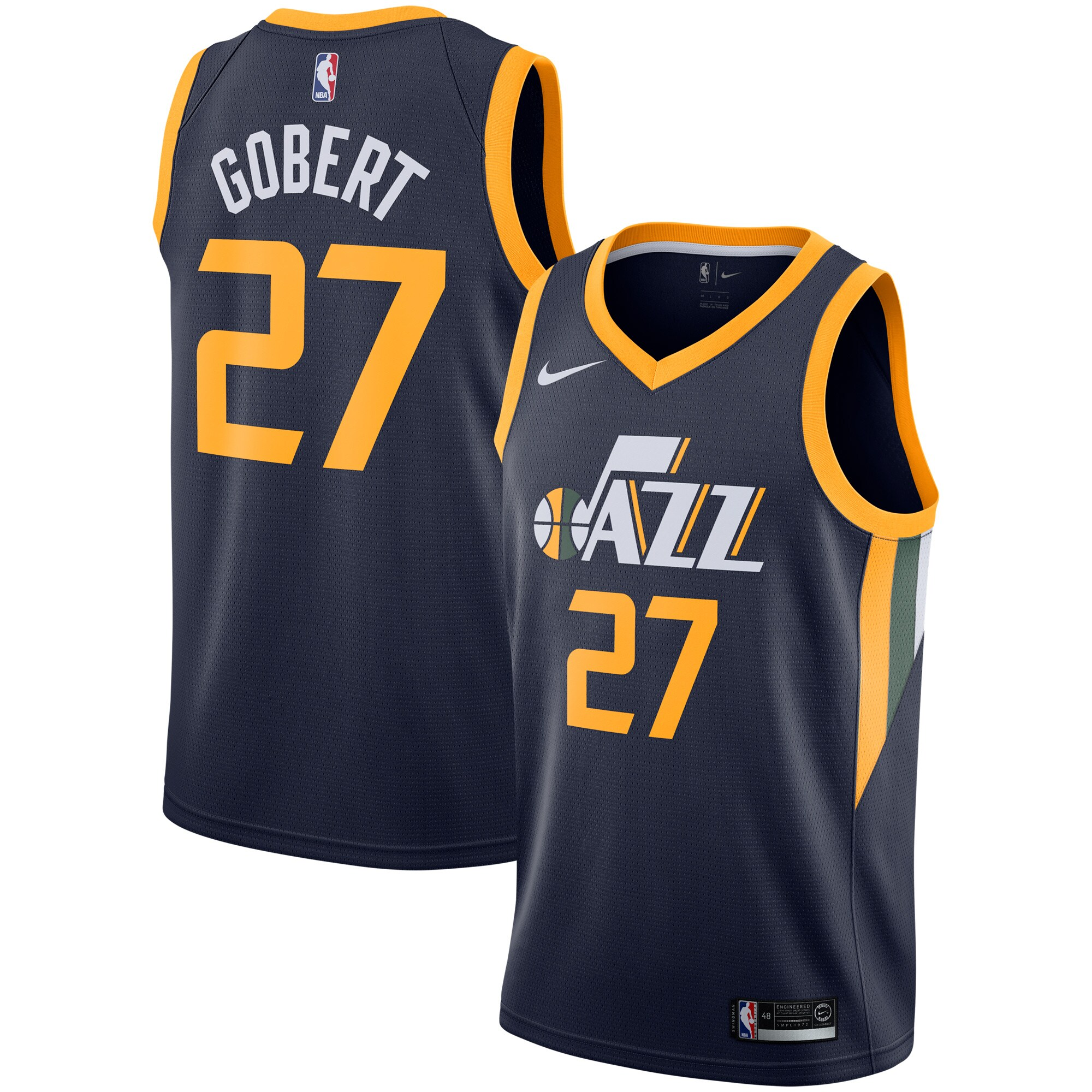 Rudy Gobert Utah Jazz Nike Replica Swingman Jersey - Icon Edition - Navy