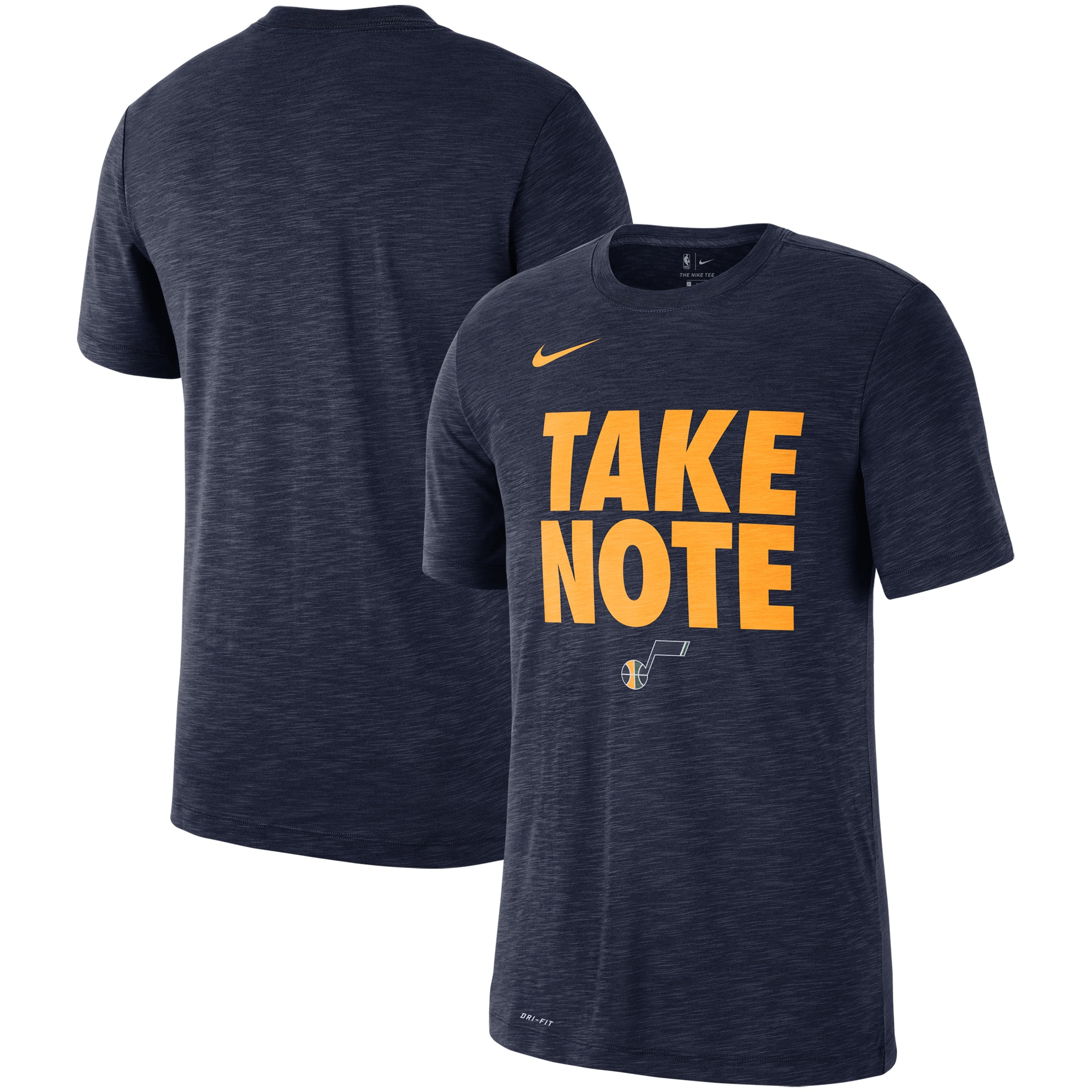 Utah Jazz Nike Essential Team Attitude Performance T-Shirt - Heathered Navy