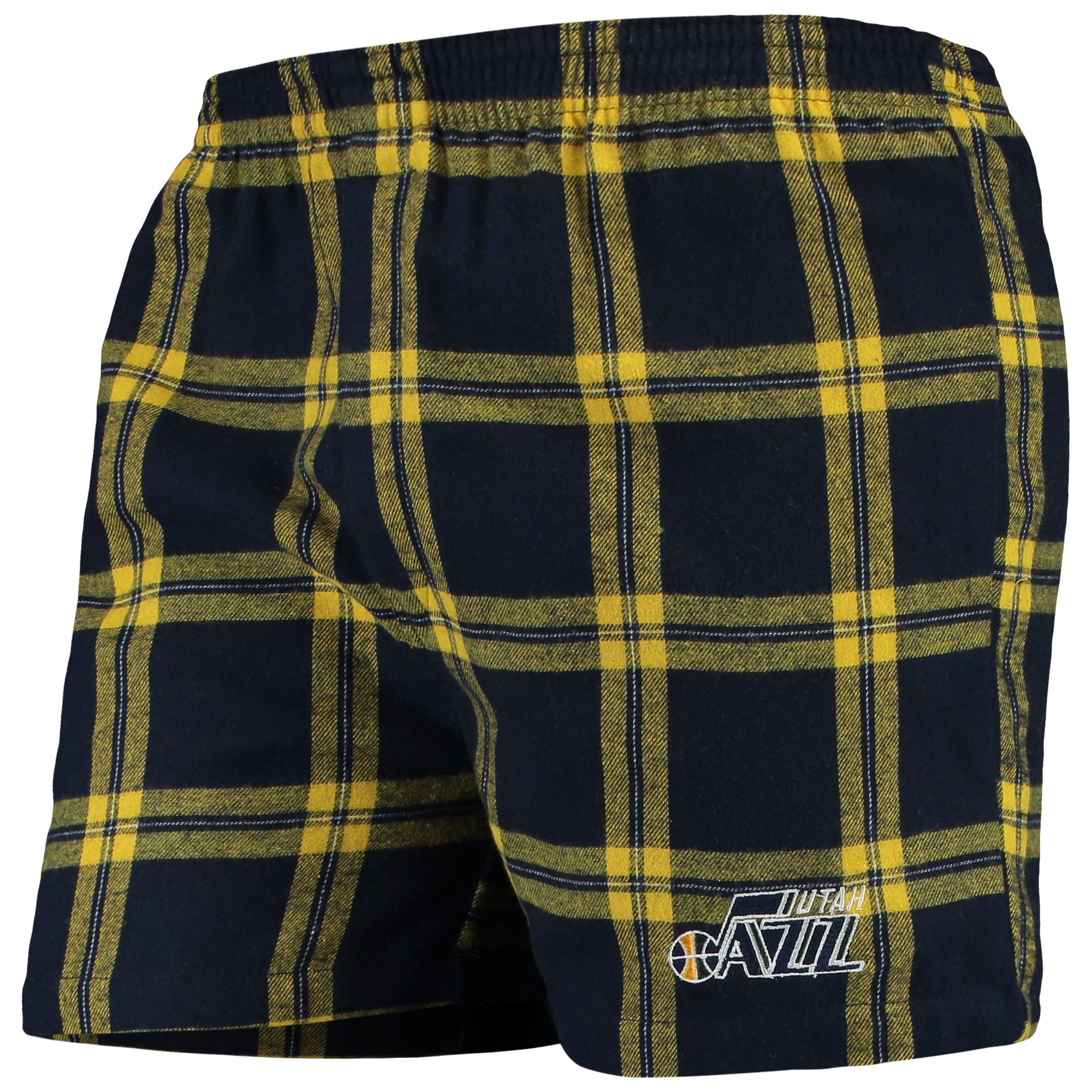 Utah Jazz Concepts Sport Homestretch Flannel Boxer Shorts - Navy