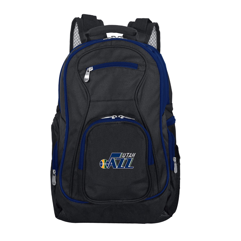 Utah Jazz Trim Color Laptop Backpack - Black