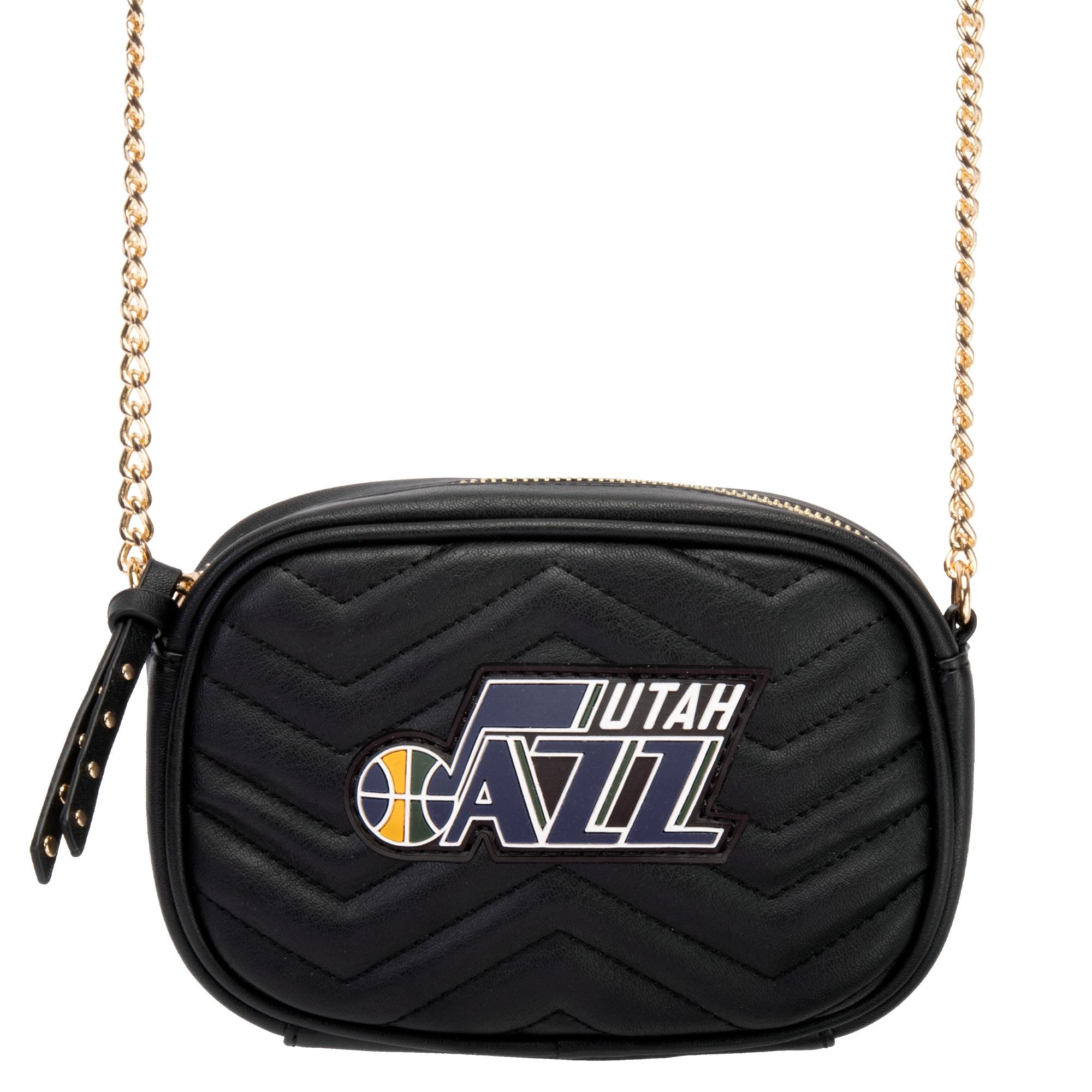 Utah Jazz Women's Crossbody Bag - Black