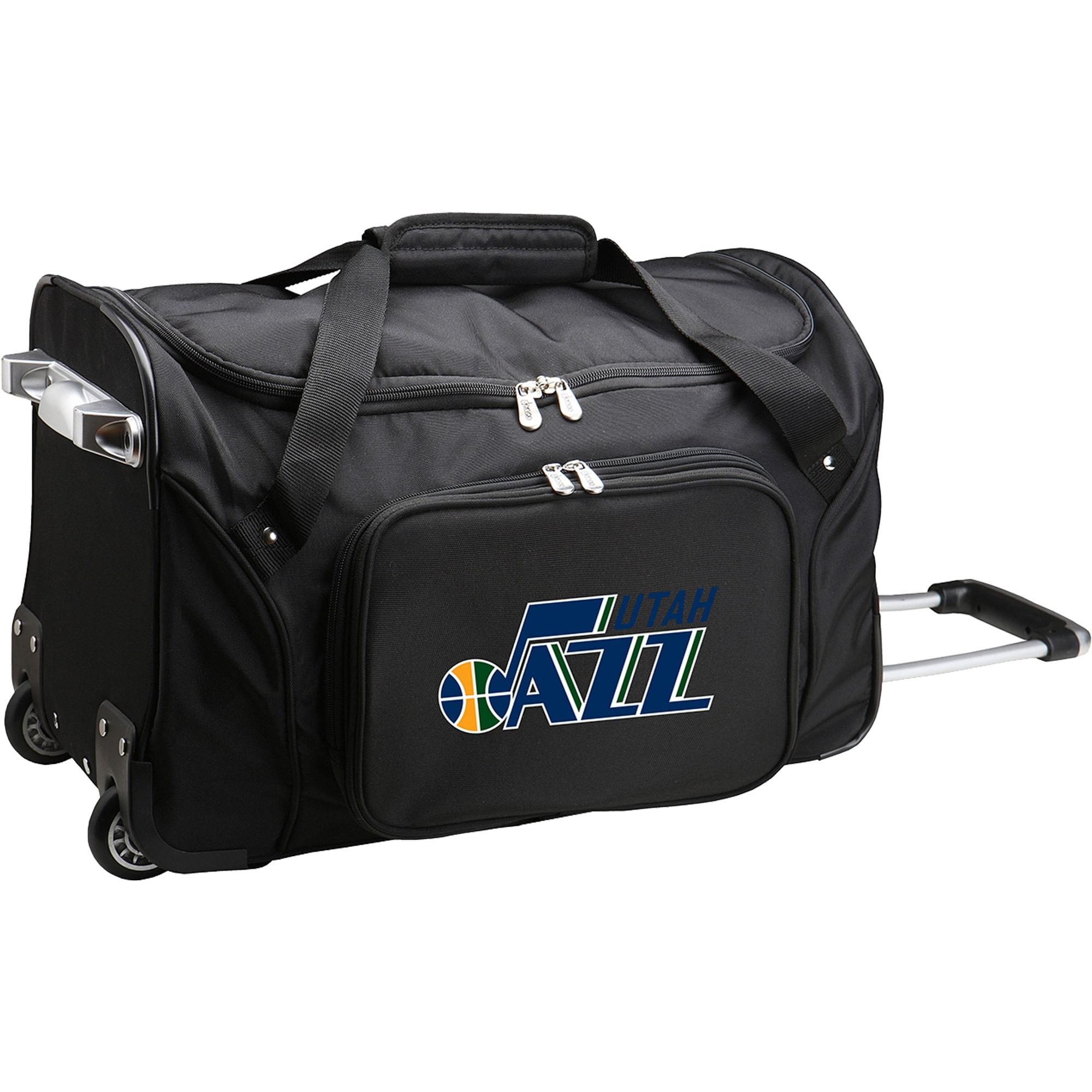 "Utah Jazz 22"" 2-Wheeled Duffel Bag - Black"