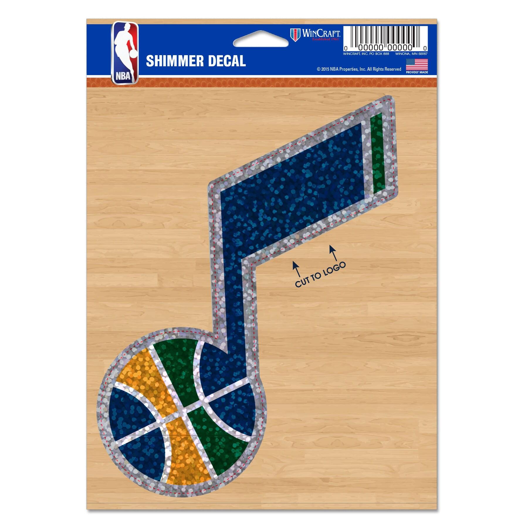 """Utah Jazz WinCraft 5"""" x 7"""" Shimmer Decal"""