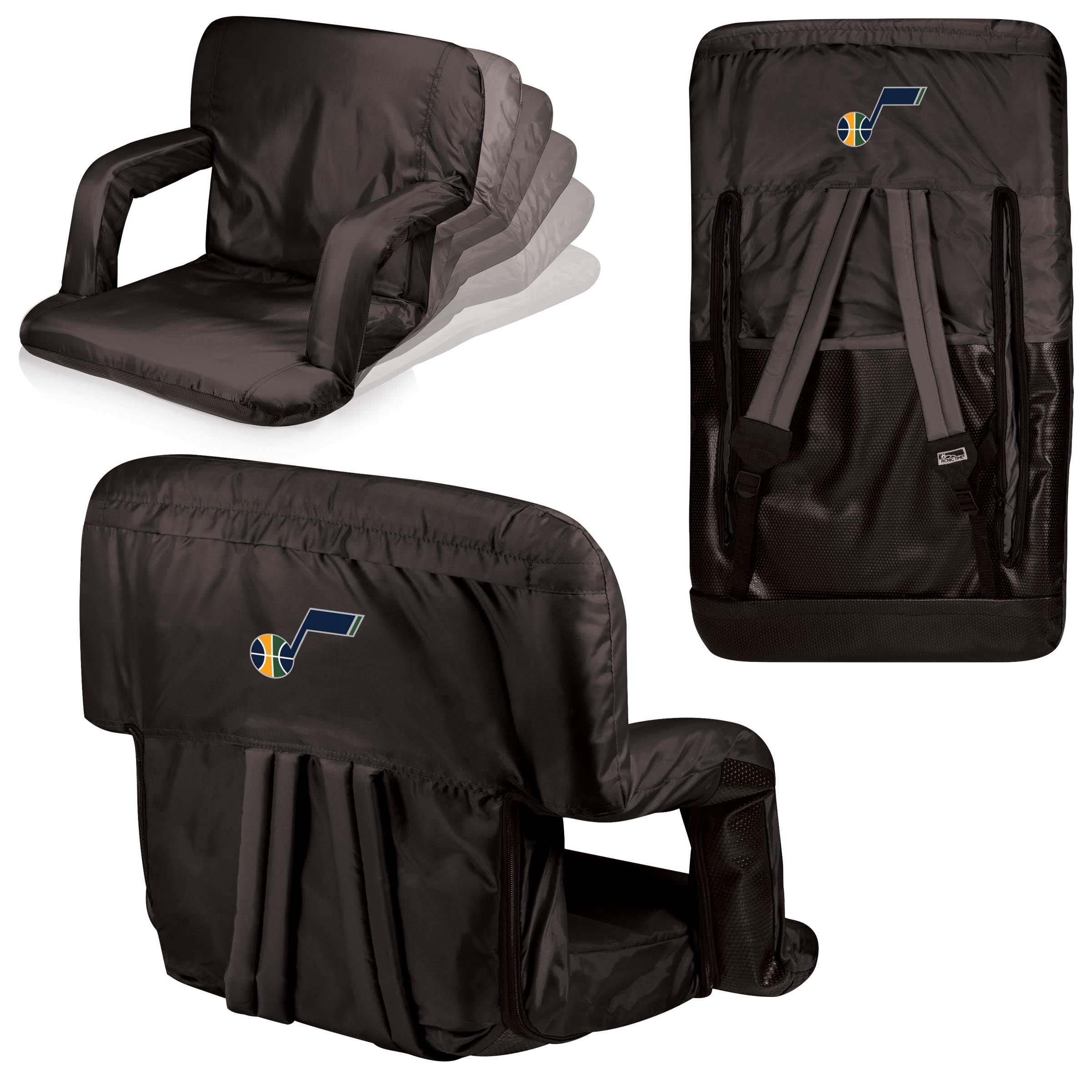 Utah Jazz Ventura Seat Portable Recliner Chair - Black