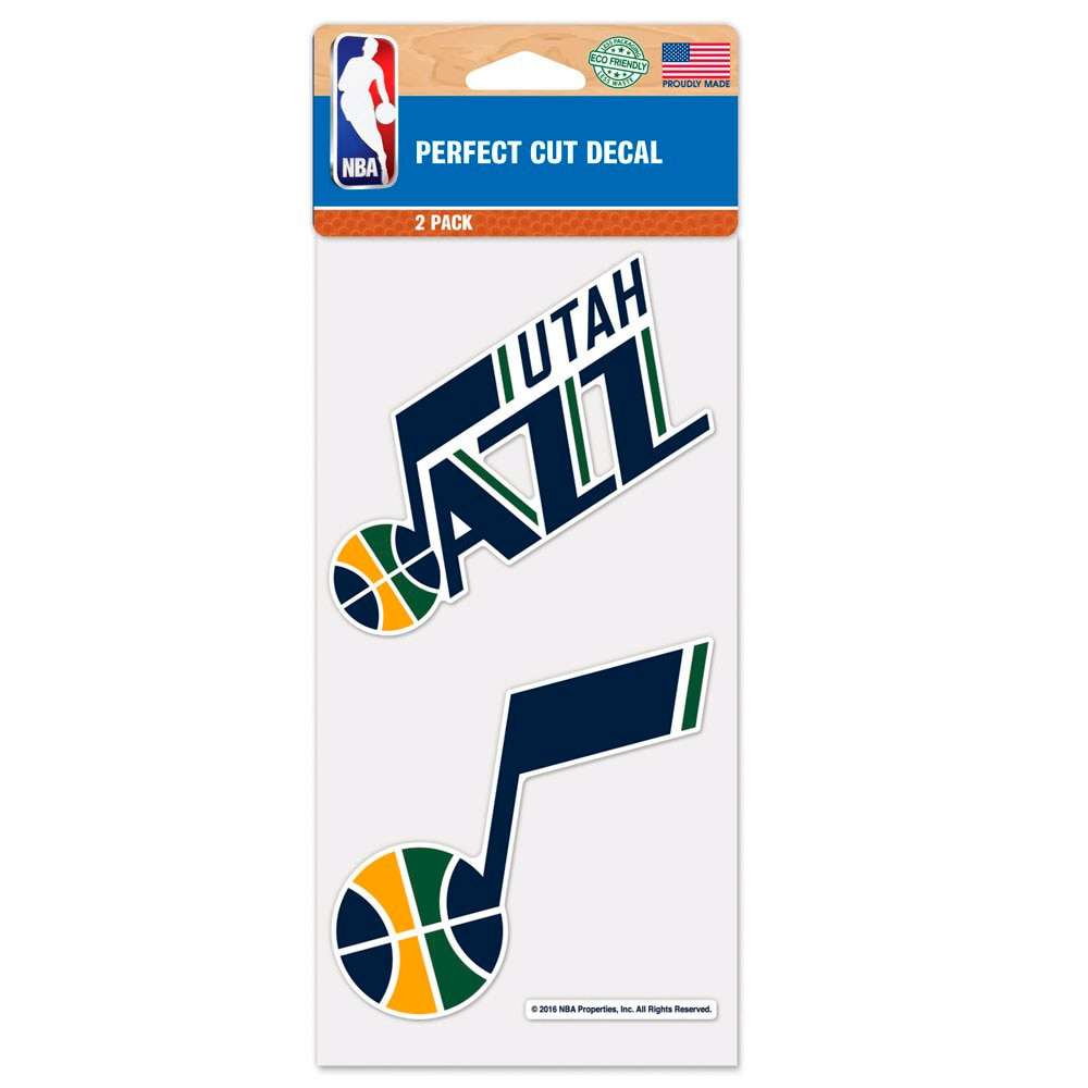 "Utah Jazz WinCraft 4"" x 4"" Perfect Cut 2-Pack Car Decal Set"
