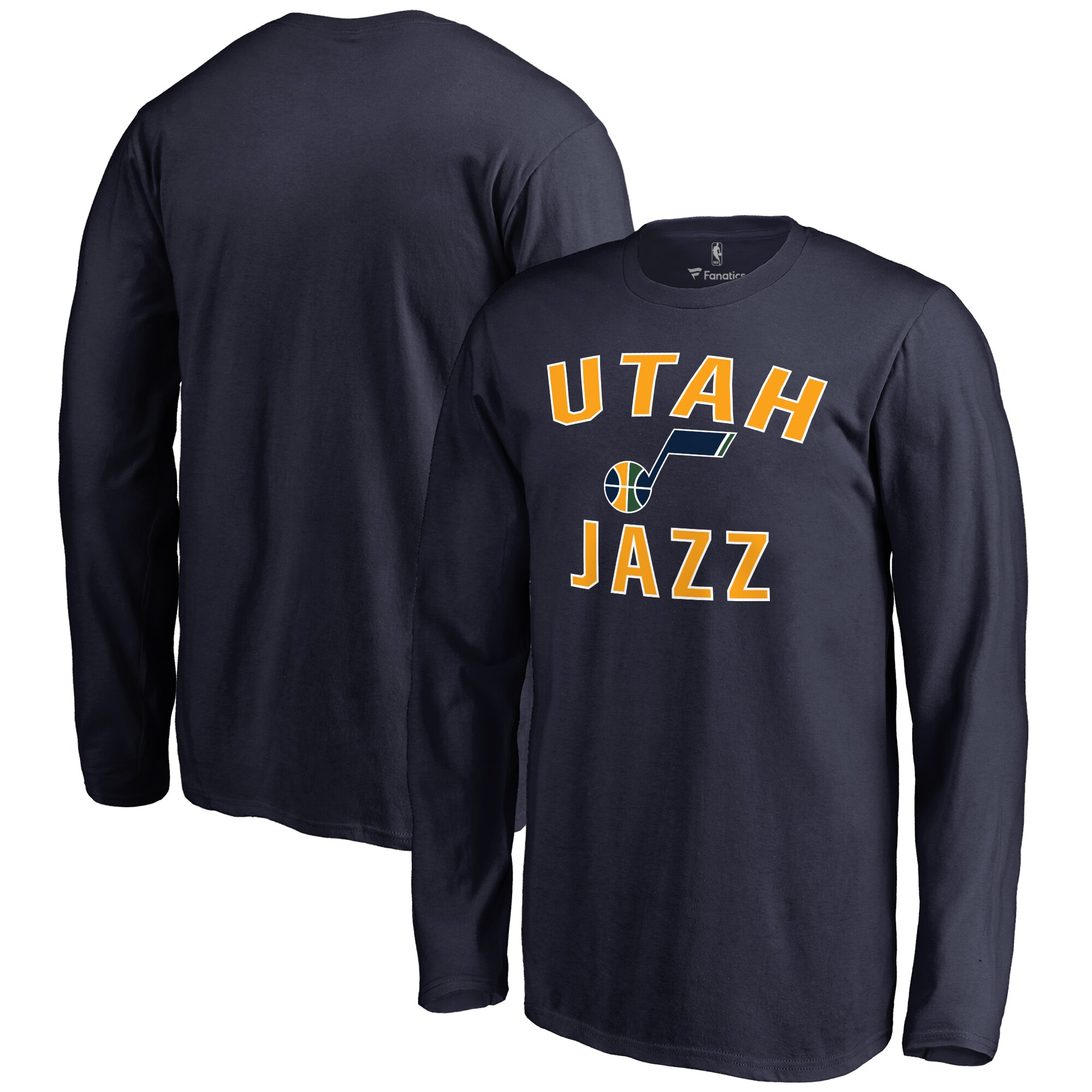 Utah Jazz Youth Victory Arch Long Sleeve T-Shirt - Navy