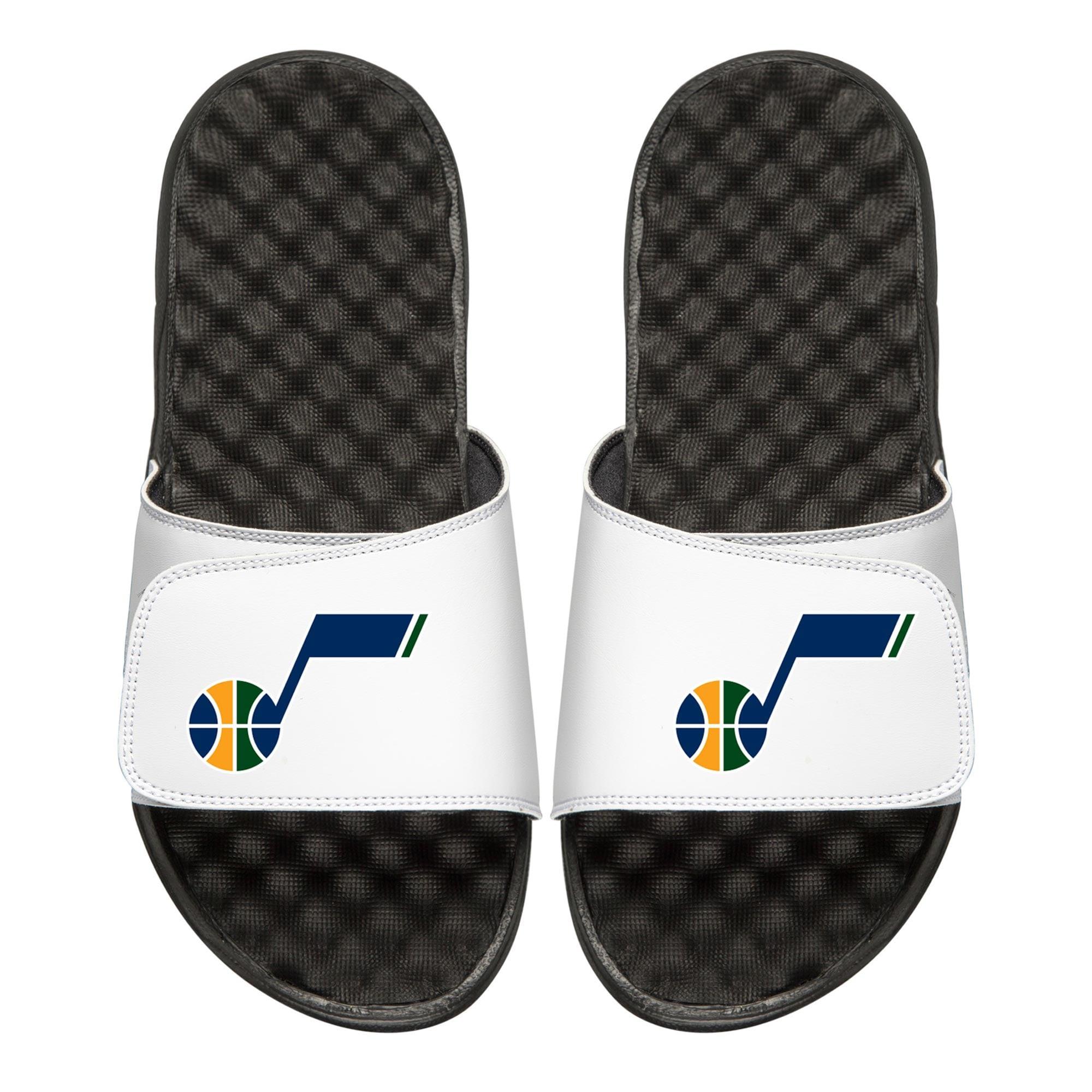 Utah Jazz Youth Primary iSlide Sandals - White