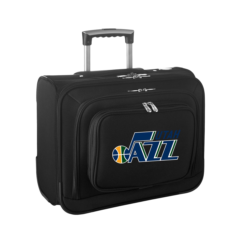 "Utah Jazz 14"" 2-Wheeled Laptop Overnighter Travel Case - Black"