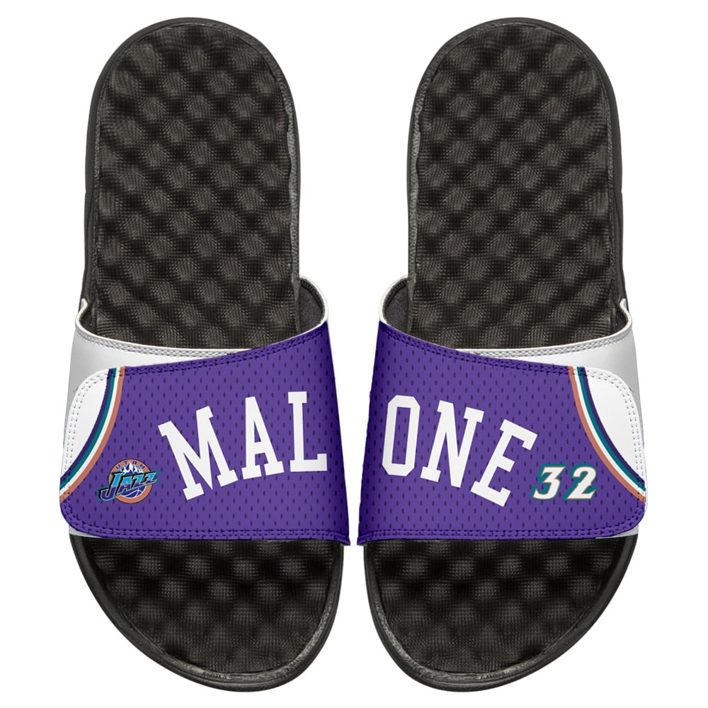 Karl Malone Utah Jazz ISlide Youth Retro Jersey Slide Sandals