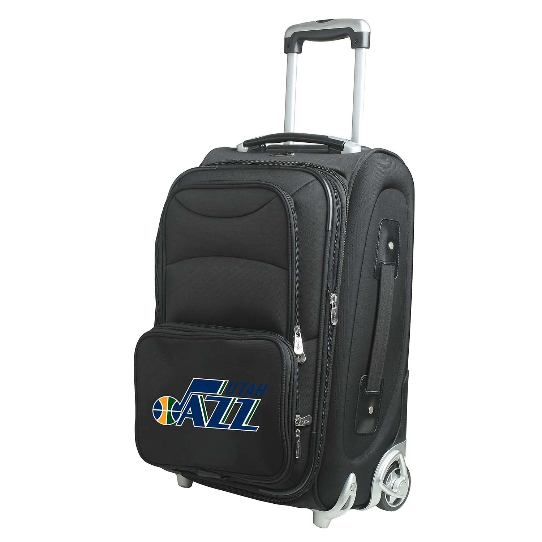 """Utah Jazz 21"""" Softside Rolling Carry-On Suitcase - Black"""