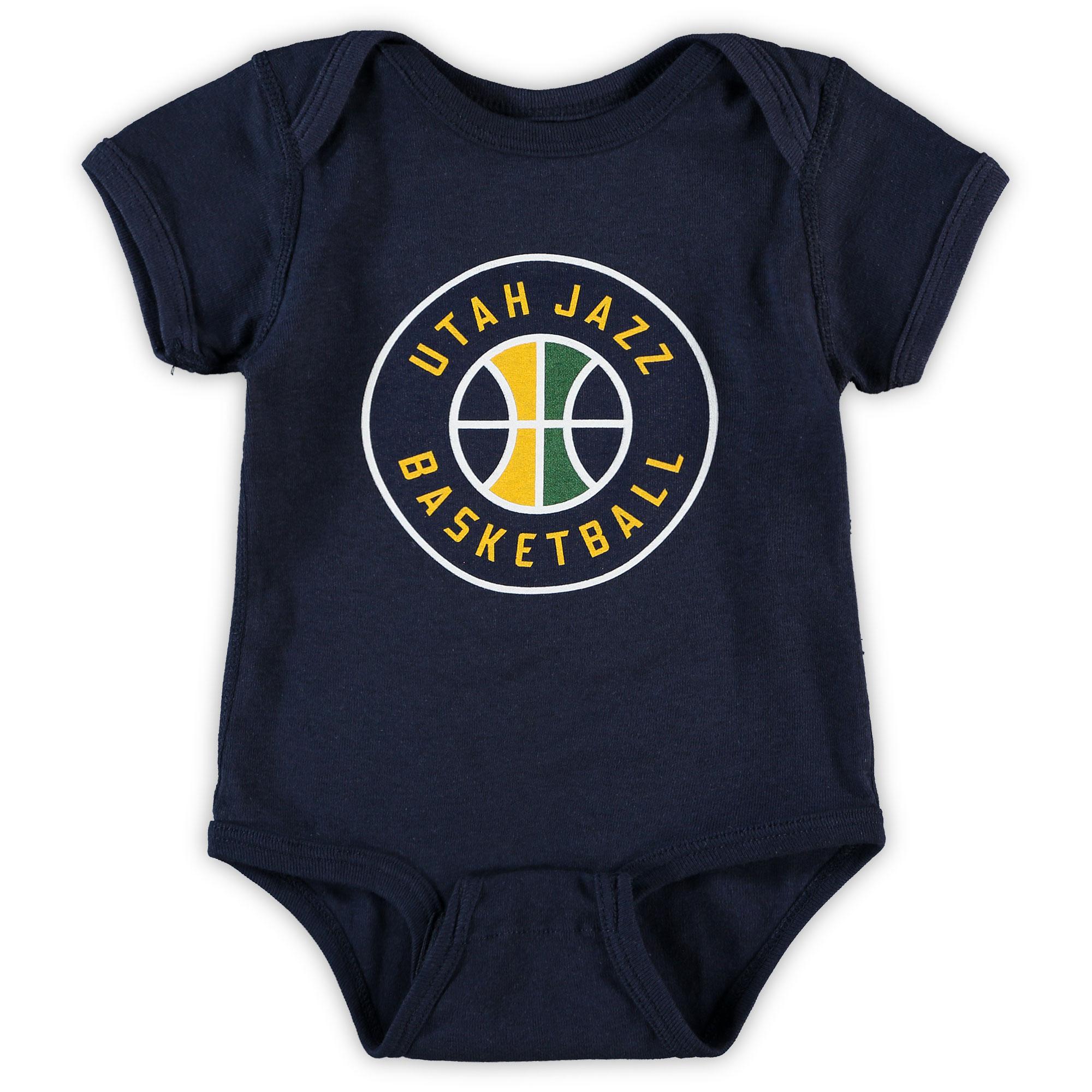 Utah Jazz Infant Primary Team Logo Bodysuit - Navy