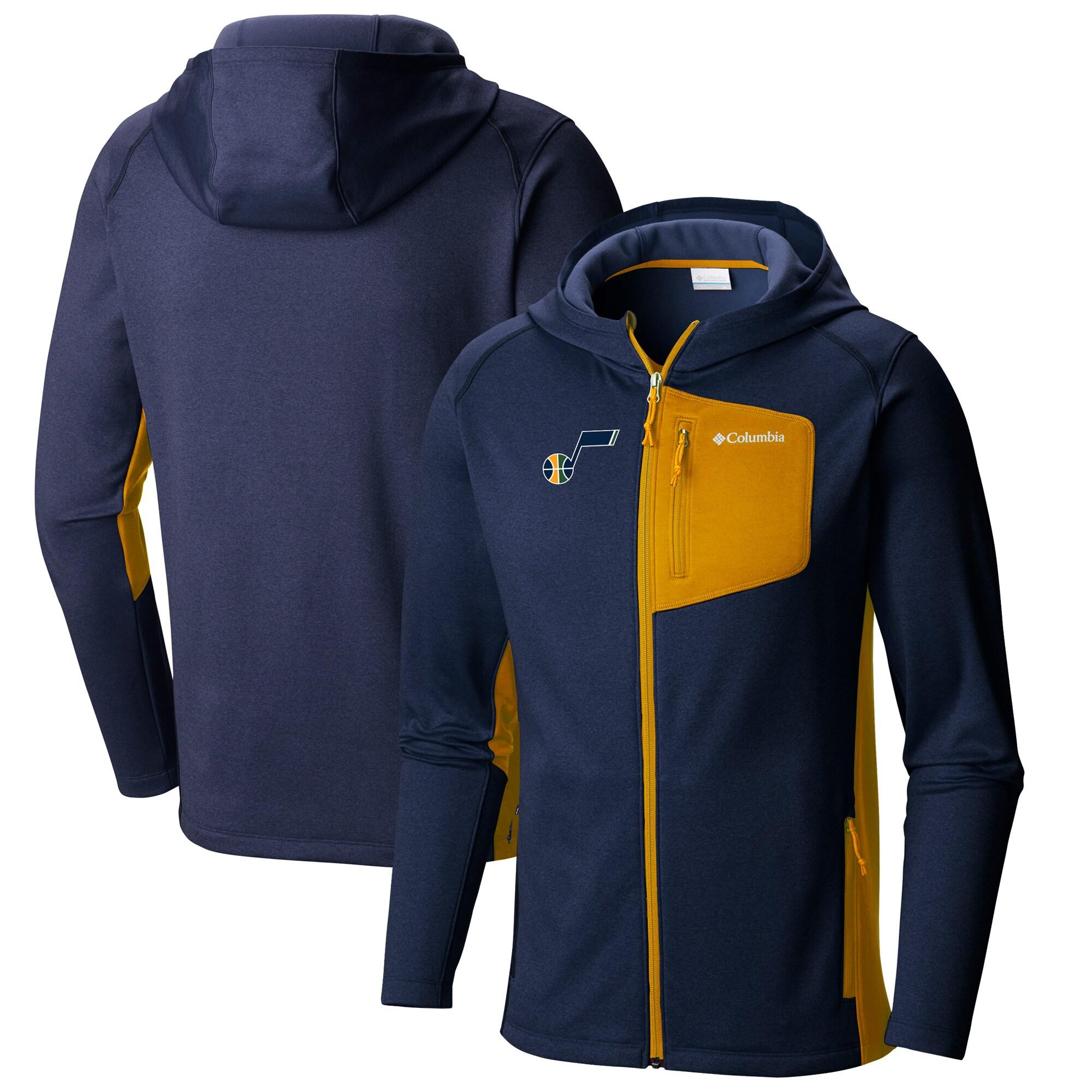 Utah Jazz Columbia Jackson Creek Full-Zip Hooded Jacket - Navy/Gold