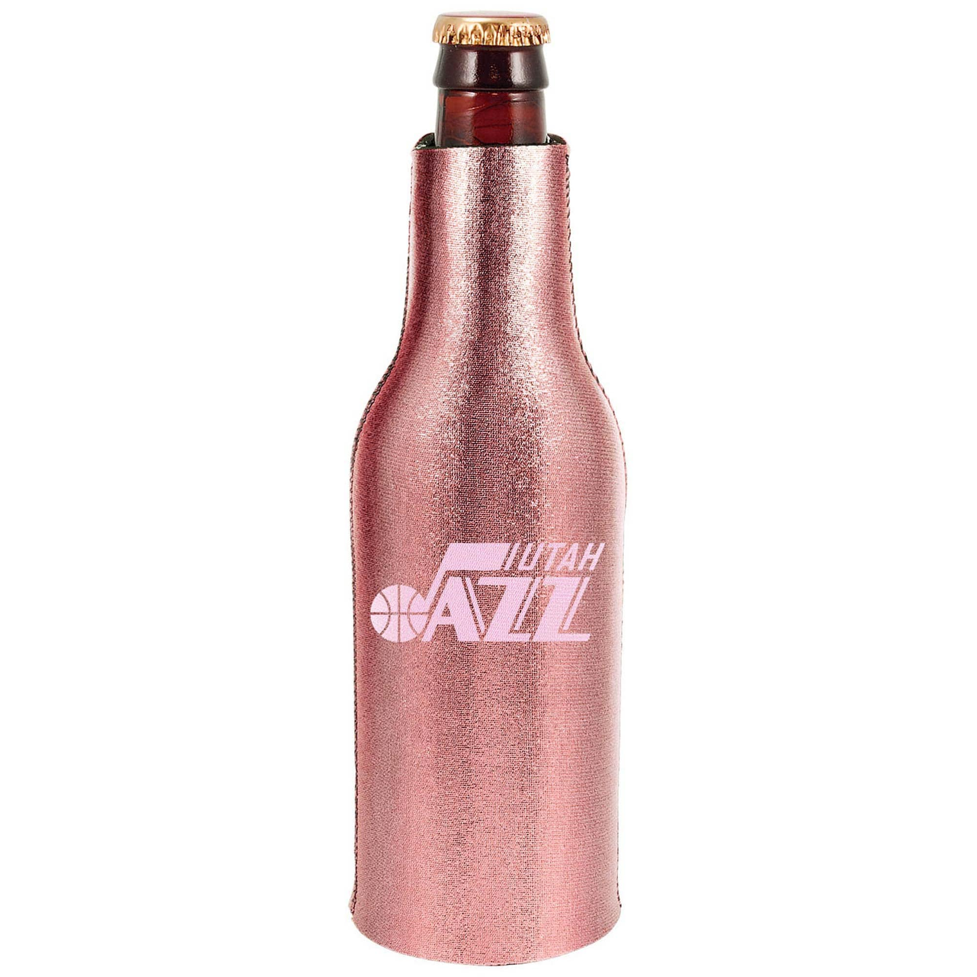 Utah Jazz 12oz. Rose Gold Bottle Cooler