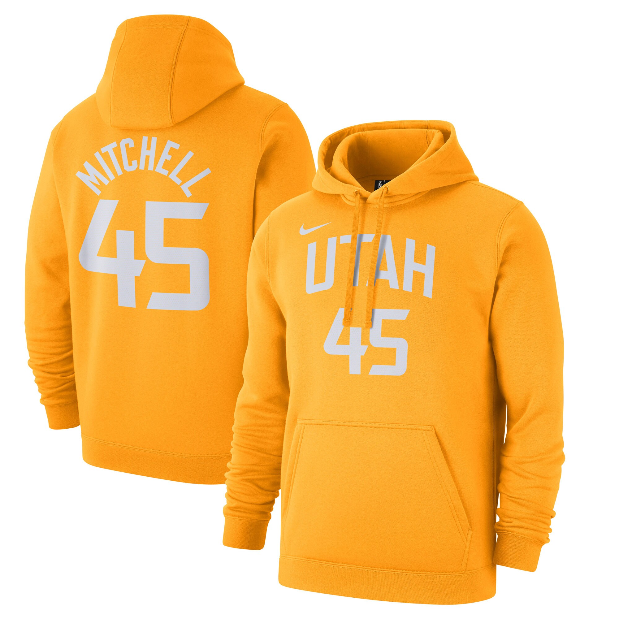 Donovan Mitchell Utah Jazz Nike 2019/20 City Edition Name & Number Pullover Hoodie - Gold