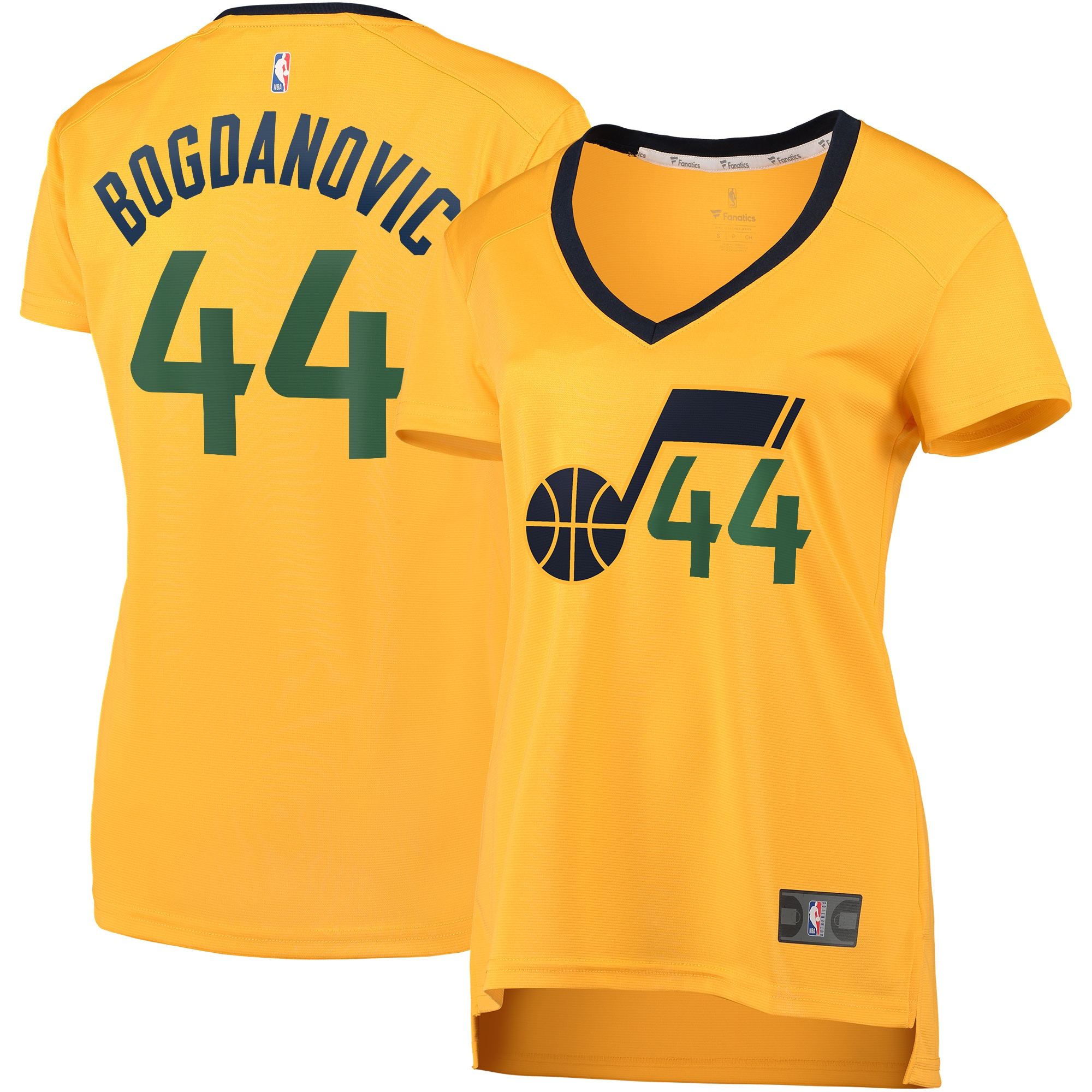 Bojan Bogdanovic Utah Jazz Fanatics Branded Women's Fast Break Replica Jersey Gold - Association Edition