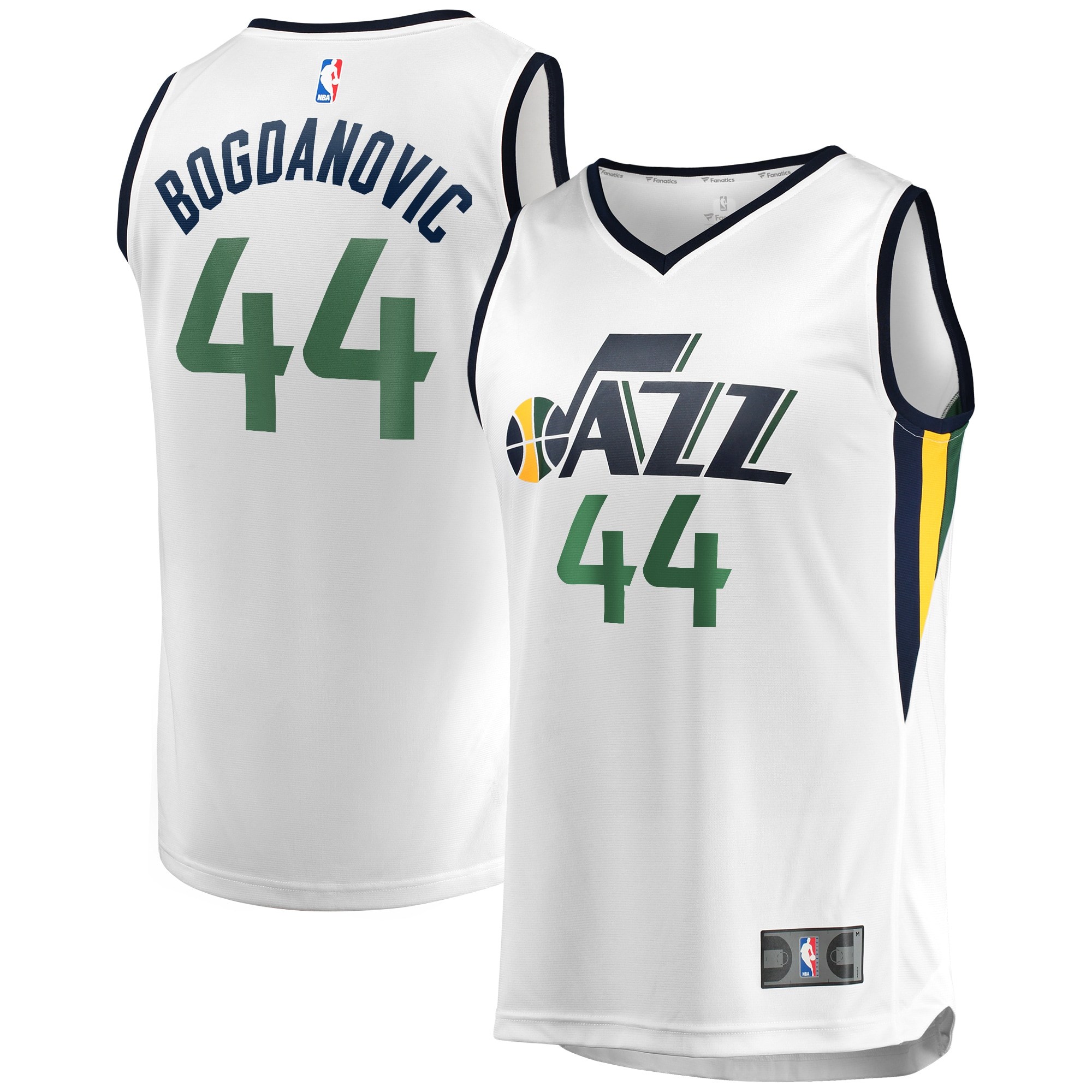 Bojan Bogdanovic Utah Jazz Fanatics Branded Fast Break Replica Jersey White - Icon Edition