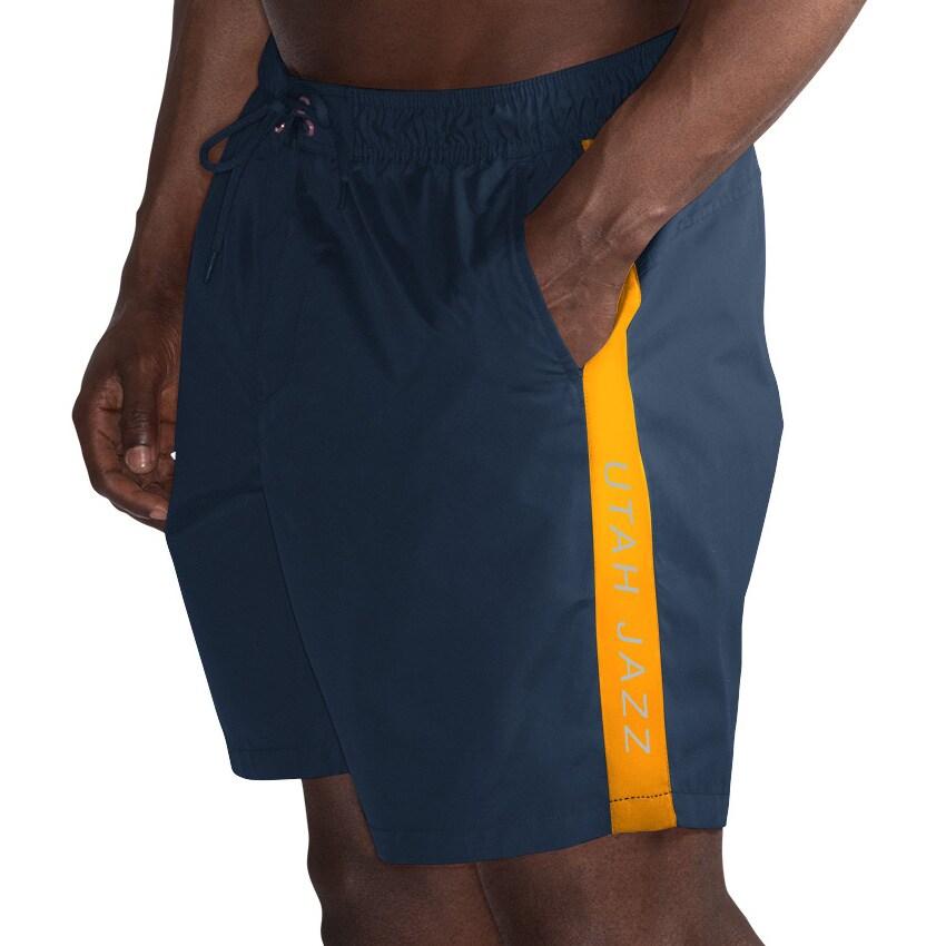 Utah Jazz G-III Sports by Carl Banks Volley Swim Trunks - Navy/Gold