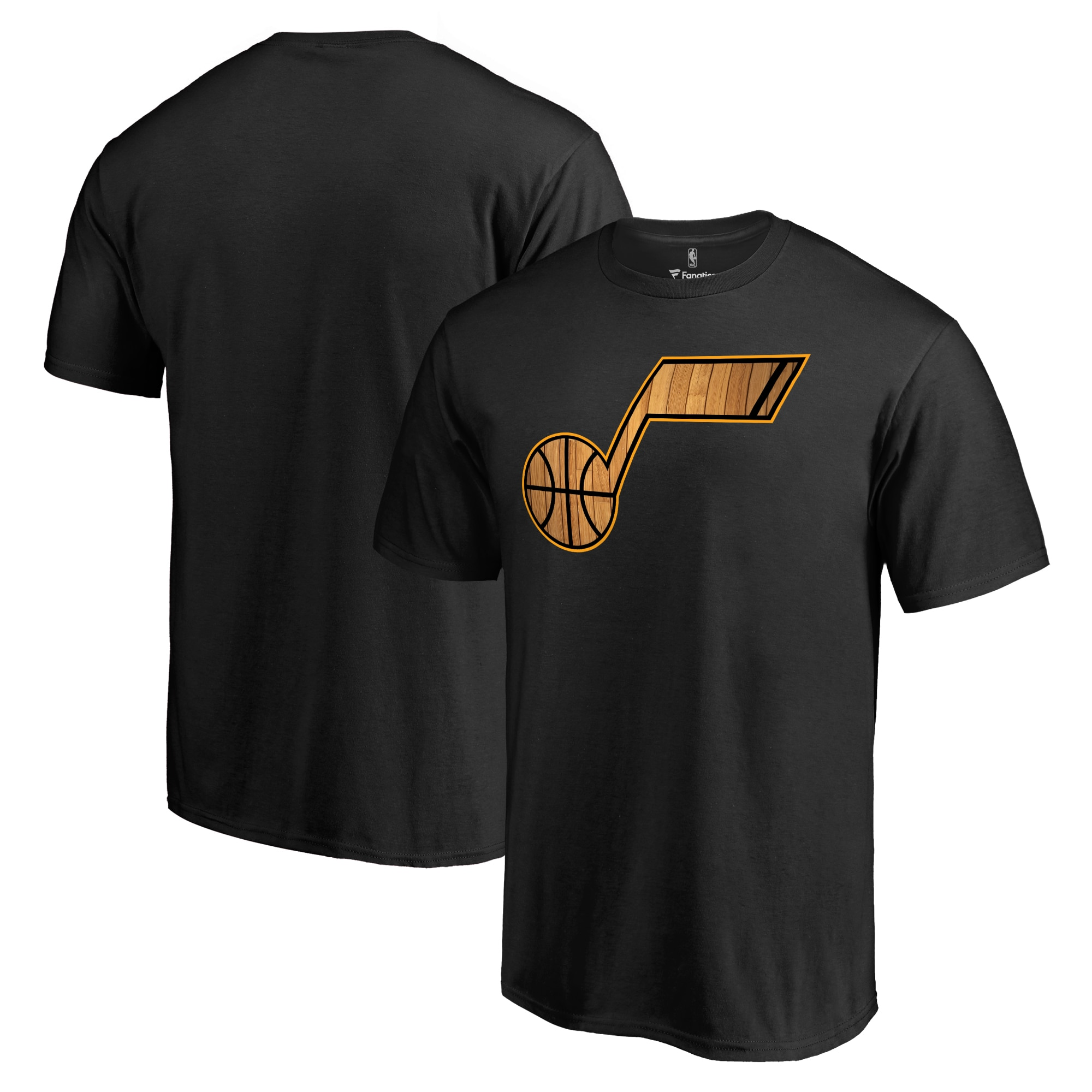 Utah Jazz Hardwood Big & Tall T-Shirt - Black